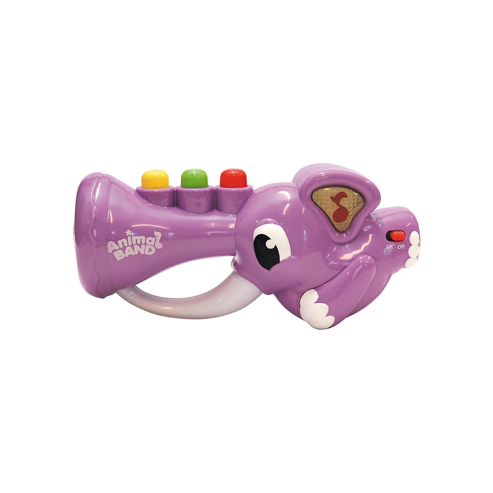 Слоник-трубач, KeenwayДетские музыкальные инструменты<br>Музыкальная игрушка Слоник-трубач от  Keenway - отличный подарок ребенку. Это красочная игрушка, которая обязательно понравится малышу. Она выполнена в виде трубы-слоника. Нажимая на кнопки на хоботе слоника, ребенок услышит веселую песенку или забавные звуки. Причем звуки могут играть одновременно, создавая оркестр.<br>Игрушка по габаритам идеально подходит для маленьких ручек малыша. Весит совсем немного. Такие игрушки помогают развить мелкую моторику, логическое мышление и воображение ребенка. Эта игрушка выполнена из высококачественного прочного пластика, безопасного для детей.<br>  <br>Дополнительная информация:<br><br>цвет: разноцветный;<br>материал: пластик;<br>размер:  270 х 90 х 160 мм;<br>батарейки: 3ХхАА, в комплекте.<br><br>Игрушку Слоник-трубач от компании Keenway можно купить в нашем магазине.<br><br>Ширина мм: 280<br>Глубина мм: 140<br>Высота мм: 190<br>Вес г: 765<br>Возраст от месяцев: 36<br>Возраст до месяцев: 120<br>Пол: Унисекс<br>Возраст: Детский<br>SKU: 4810983