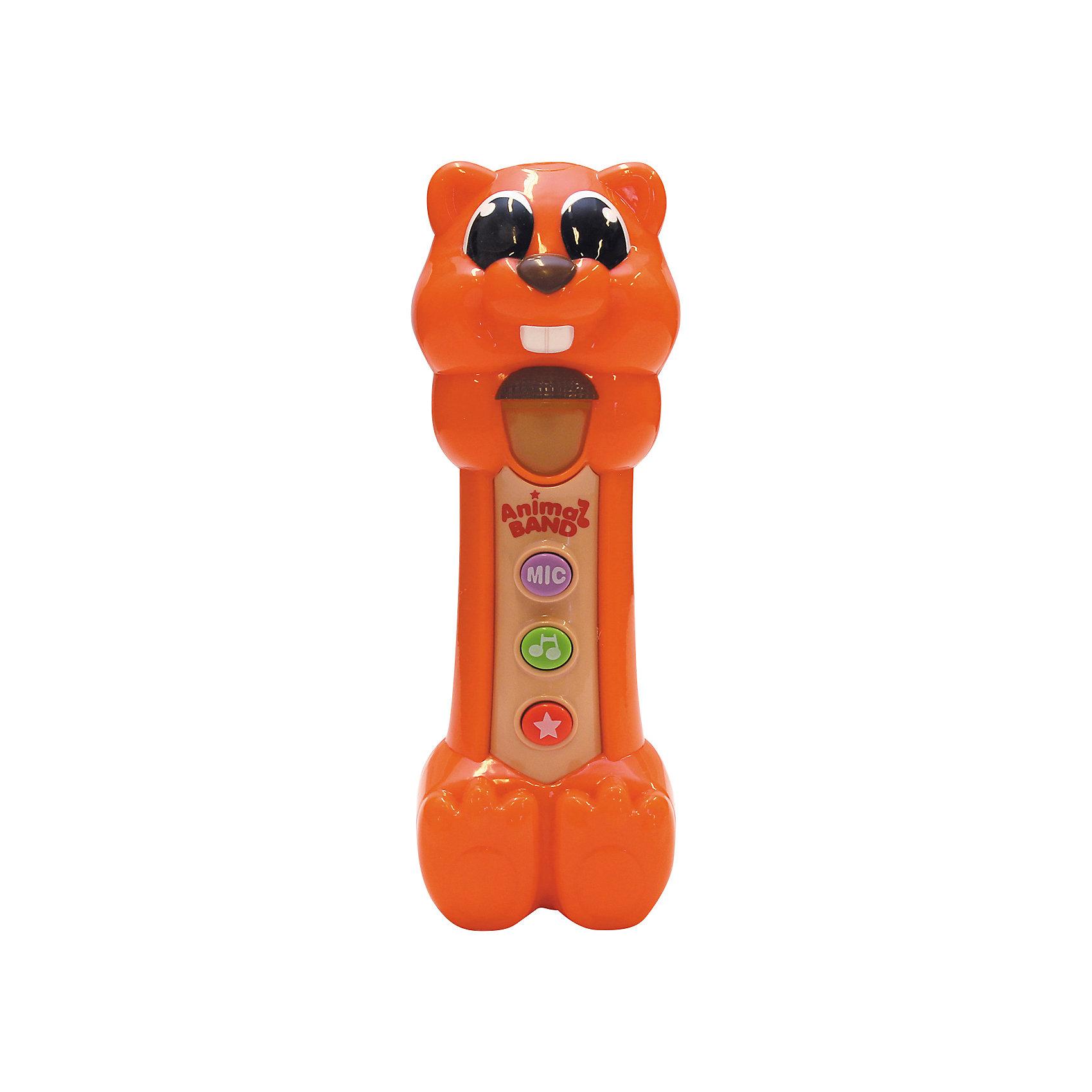 Поющая Белочка, KeenwayМузыкальная игрушка Поющая Белочка от  Keenway - отличный подарок ребенку. Это красочная игрушка, которая обязательно понравится малышу. Она выполнена в виде забавной белки. Нажав на зеленую кнопку на животе игрушки, ребенок услышит веселые песенки, а если нажмет на красную кнопочку - то забавные звуки. При этом звуки сопровождаются световыми эффектами. <br>Игрушка по габаритам идеально подходит для маленьких ручек малыша. Весит совсем немного. Такие игрушки помогают развить мелкую моторику, логическое мышление и воображение ребенка. Эта игрушка выполнена из высококачественного прочного пластика, безопасного для детей.<br>  <br>Дополнительная информация:<br><br>цвет: разноцветный;<br>материал: пластик;<br>размер упаковки: 21х10х13 см;<br>батарейки: 3ХхАА, в комплекте.<br><br>Игрушку Поющая Белочка от компании Keenway можно купить в нашем магазине.<br><br>Ширина мм: 420<br>Глубина мм: 220<br>Высота мм: 150<br>Вес г: 1225<br>Возраст от месяцев: 36<br>Возраст до месяцев: 120<br>Пол: Унисекс<br>Возраст: Детский<br>SKU: 4810985