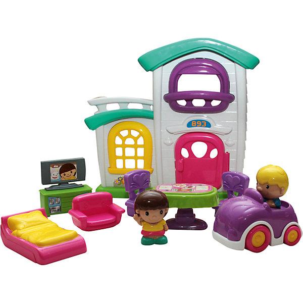 Игровой набор Кукольный дом, KeenwayДомики для кукол<br>Игровой набор Кукольный дом от Keenway - отличный подарок ребенку. Это красочная игрушка, которая обязательно понравится девочке. Она выполнена в виде домика  с мансардой, открывающейся дверцей и окнами, также в наборе - две фигурки кукол, машинка и мебель. Элементы набора очень приятны на ощупь и радуют глаз гармоничным сочетанием цветовой гаммы. Замечательный игровой набор надолго увлечет девочку!<br>Игрушка по габаритам идеально подходит для маленьких ручек малыша. Весит совсем немного. Такие игрушки помогают развить мелкую моторику, логическое мышление и воображение ребенка. Эта игрушка выполнена из высококачественного прочного пластика, безопасного для детей.<br>  <br>Дополнительная информация:<br><br>цвет: разноцветный;<br>материал: пластик;<br>размер упаковки:  30 x 47 x 12 см;<br>комплектация: дом, две мини-куклы, машинка, два стульчика, стол, кровать, диван и тумба с телевизором;<br>вес в упаковке, г 1160г.<br><br>Игровой набор Кукольный дом от компании Keenway можно купить в нашем магазине.<br><br>Ширина мм: 140<br>Глубина мм: 190<br>Высота мм: 170<br>Вес г: 266<br>Возраст от месяцев: 36<br>Возраст до месяцев: 120<br>Пол: Женский<br>Возраст: Детский<br>SKU: 4810988