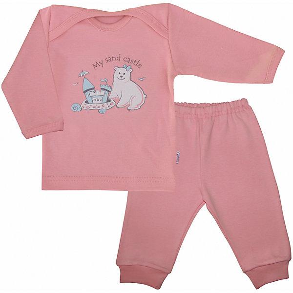 Пижама для девочки Веселый малышПижамы<br>Очаровательная пижама от бренда Веселый малыш подарит вашему ребенку комфортный сон. Пижама изготовлена из 100% хлопка, приятного телу. Материал очень прочный и отлично сохраняет свои свойства после стирки. Ткань гипоаллергенная и не вызывает раздражения на чувствительной коже. Двойной ворот поможет вам с легкостью надеть пижаму на кроху. Штанишки с удобной резинкой и манжетами обеспечат отличную посадку. Верх украшен принтом с медвежонком. В этой пижаме малыш будет видеть самые сладкие сны!<br><br>Дополнительная информация:<br>Материал: интерлок-пенье<br>Состав: 100% хлопок<br>Цвет: розовый<br>Серия: Умка<br><br>Пижаму от бренда Веселый малыш можно купить в нашем интернет-магазине.<br><br>Ширина мм: 157<br>Глубина мм: 13<br>Высота мм: 119<br>Вес г: 200<br>Цвет: розовый<br>Возраст от месяцев: 3<br>Возраст до месяцев: 6<br>Пол: Женский<br>Возраст: Детский<br>Размер: 68,74,80<br>SKU: 4811001