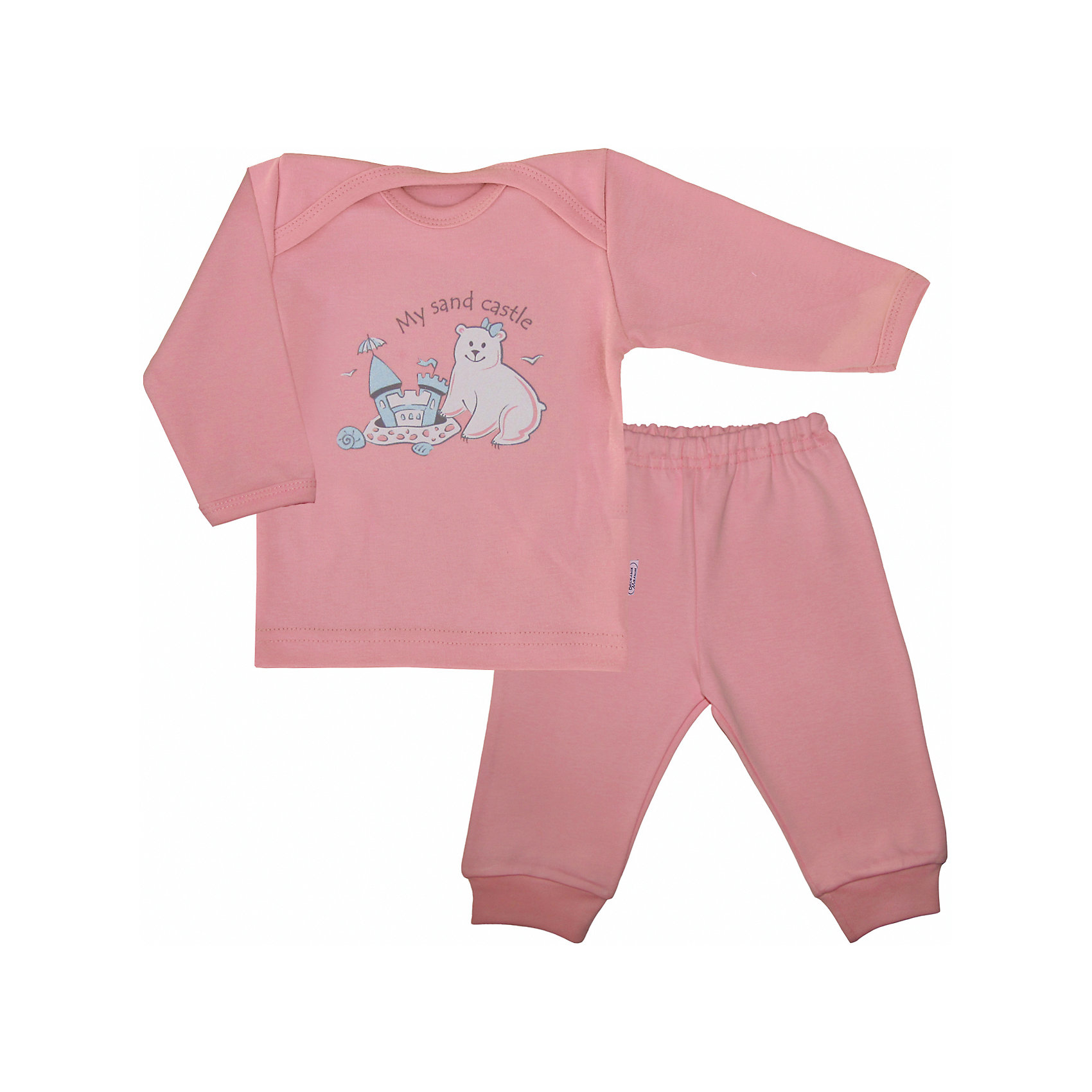 Пижама для девочки Веселый малышОчаровательная пижама от бренда Веселый малыш подарит вашему ребенку комфортный сон. Пижама изготовлена из 100% хлопка, приятного телу. Материал очень прочный и отлично сохраняет свои свойства после стирки. Ткань гипоаллергенная и не вызывает раздражения на чувствительной коже. Двойной ворот поможет вам с легкостью надеть пижаму на кроху. Штанишки с удобной резинкой и манжетами обеспечат отличную посадку. Верх украшен принтом с медвежонком. В этой пижаме малыш будет видеть самые сладкие сны!<br><br>Дополнительная информация:<br>Материал: интерлок-пенье<br>Состав: 100% хлопок<br>Цвет: розовый<br>Серия: Умка<br><br>Пижаму от бренда Веселый малыш можно купить в нашем интернет-магазине.<br><br>Ширина мм: 157<br>Глубина мм: 13<br>Высота мм: 119<br>Вес г: 200<br>Цвет: розовый<br>Возраст от месяцев: 6<br>Возраст до месяцев: 9<br>Пол: Женский<br>Возраст: Детский<br>Размер: 74,68,80<br>SKU: 4811001