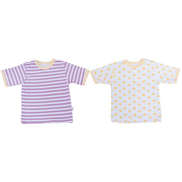 Футболка для девочки, 2 шт. Веселый малышФутболки, топы<br>Одежда для малышей должна быть удобной и качественной - это один из необходимых факторов для правильного развития и хорошего самочувствия ребенка.<br>Эти футболки отличаются высоким качеством швов, окантовкой краёв, что позволяет им хорошо фиксироваться на теле малыша, не сползать и не натирать. Застежки - удобные кнопки, которые не мешают ребенку. Материал - интерлок. Это плотная ткань из натурального хлопка, гладкая, приятная на ощупь, дышащая и гипоаллергенная. Расцветка изделий позволяет легко комбинировать их с различной одеждой. В наборе - две футболки разных цветов.<br><br>Дополнительная информация:<br><br>материал: 100% хлопок интерлок;<br>застежки: кнопки;<br>короткий рукав;<br>комплектация: 2 футболки.<br><br>Комплект футболок от бренда Веселый малыш можно купить в нашем магазине.<br><br>Ширина мм: 157<br>Глубина мм: 13<br>Высота мм: 119<br>Вес г: 200<br>Цвет: желтый<br>Возраст от месяцев: 3<br>Возраст до месяцев: 6<br>Пол: Женский<br>Возраст: Детский<br>Размер: 68,86,74,80<br>SKU: 4811010