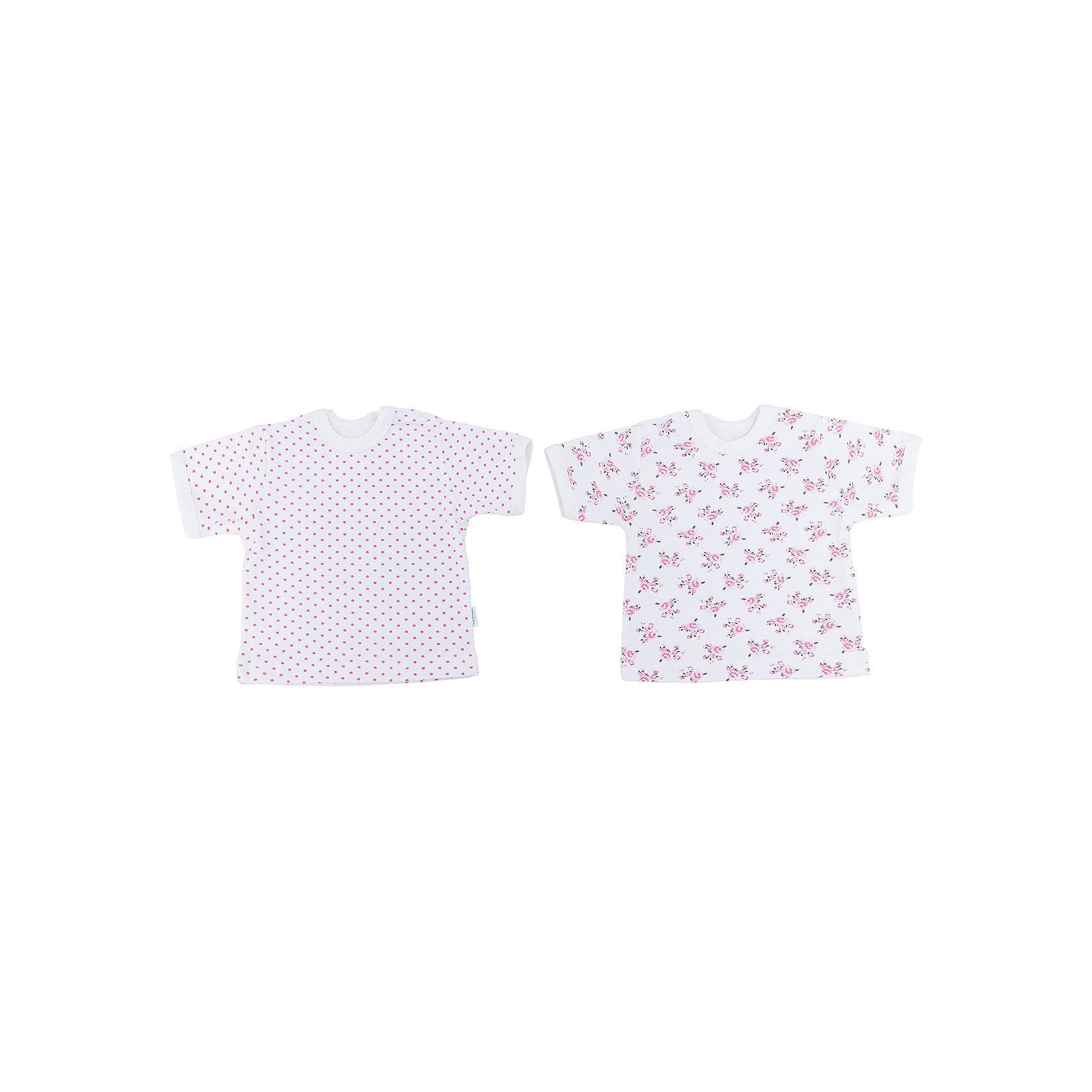 Футболка для девочки, 2 шт. Веселый малышФутболки, топы<br>Каждый предмет, предназначающийся ребенку, необходимо тщательно выбирать. Одежда для малышей должна быть удобной и качественной - это один из необходимых факторов для правильного развития и хорошего самочувствия ребенка.<br>Эти футболки отличаются высоким качеством швов, окантовкой краёв, что позволяет им хорошо фиксироваться на теле малыша, не сползать и не натирать. Застежки - удобные кнопки, которые не мешают ребенку. Материал - интерлок. Это плотная ткань из натурального хлопка, гладкая, приятная на ощупь, дышащая и гипоаллергенная. Расцветка изделий позволяет легко комбинировать их с различной одеждой. В наборе - две футболки разных цветов.<br><br>Дополнительная информация:<br><br>материал: 100% хлопок интерлок;<br>застежки: кнопки;<br>короткий рукав;<br>комплектация: 2 футболки.<br><br>Комплект футболок от бренда Веселый малыш можно купить в нашем магазине.<br><br>Ширина мм: 157<br>Глубина мм: 13<br>Высота мм: 119<br>Вес г: 200<br>Цвет: бежевый<br>Возраст от месяцев: 6<br>Возраст до месяцев: 9<br>Пол: Женский<br>Возраст: Детский<br>Размер: 74,86,80,68<br>SKU: 4811015