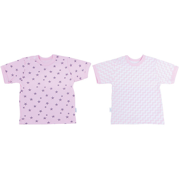 Футболка для девочки, 2 шт. Веселый малышФутболки, топы<br>Выбирая одежду для ребенка, отвественные родители обращают внимение на множество деталей. Одежда для малышей должна быть удобной и качественной - это один из необходимых факторов для правильного развития и хорошего самочувствия ребенка.<br>Эти футболки отличаются высоким качеством швов, окантовкой краёв, что позволяет им хорошо фиксироваться на теле малыша, не сползать и не натирать. Застежки - удобные кнопки, которые не мешают ребенку. Материал - интерлок. Это плотная ткань из натурального хлопка, гладкая, приятная на ощупь, дышащая и гипоаллергенная. Расцветка изделий позволяет легко комбинировать их с различной одеждой. В наборе - две футболки разных цветов.<br><br>Дополнительная информация:<br><br>материал: 100% хлопок интерлок;<br>застежки: кнопки;<br>короткий рукав;<br>комплектация: 2 футболки.<br><br>Комплект футболок от бренда Веселый малыш можно купить в нашем магазине.<br><br>Ширина мм: 157<br>Глубина мм: 13<br>Высота мм: 119<br>Вес г: 200<br>Цвет: розовый<br>Возраст от месяцев: 12<br>Возраст до месяцев: 15<br>Пол: Женский<br>Возраст: Детский<br>Размер: 80,86,74,68<br>SKU: 4811024