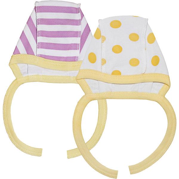 Чепчик для девочки, 2 шт. Веселый малышШапочки<br>В заботе о ребенке важно всё! Одежда для малышей должна быть удобной и качественной - это один из необходимых факторов для правильного развития и хорошего самочувствия ребенка.<br>Эти чепчики отличаются высоким качеством швов, продуманным кроем, что позволяет им хорошо фиксироваться на голове малыша, не сползать и не натирать.  Материал - интерлок. Это плотная ткань из натурального хлопка, гладкая, приятная на ощупь, дышащая и гипоаллергенная. Расцветка изделий позволяет легко комбинировать их с различной одеждой. В наборе - два чепчика разных расцветок.<br><br>Дополнительная информация:<br><br>материал: 100% хлопок интерлок;<br>завязки;<br>комплектация: 2 чепчика.<br><br>Комплект чепчиков от бренда Веселый малыш можно купить в нашем магазине.<br><br>Ширина мм: 157<br>Глубина мм: 13<br>Высота мм: 119<br>Вес г: 200<br>Цвет: желтый<br>Возраст от месяцев: 18<br>Возраст до месяцев: 24<br>Пол: Женский<br>Возраст: Детский<br>Размер: 52,48,44,40<br>SKU: 4811049