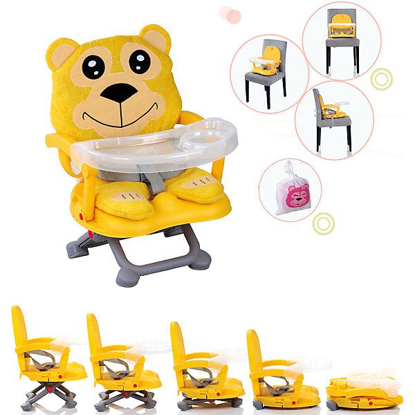 Стульчик для кормления H-1 Babies, BellyСтульчики для кормления<br>Стульчик для кормления H-1 Babies, Belly - легкая, простая и компактная модель для комфортного кормления малыша дома и в путешествии.<br>Компактный яркий стульчик для кормления H-1 Belly от Babies (Бэйбис) идеален как для домашнего использования, так и для поездок. Он легко и быстро складывается, не занимает много места при хранении и перевозке. Стульчик выполнен в ярко-желтом цвете и понравится и мальчикам, и девочкам. Мягкий чехол изготовлен в виде медведя. Предусмотрена удобная съемная столешница с бортиками и подстаканником. Нескользящие ножки устойчивы на поверхности. Стульчик можно использовать как самостоятельный предмет мебели или как бустер, сложив ножки опоры и прикрепив к обычному стулу с помощью специальных ремней, входящих в комплект.<br><br>Дополнительная информация:<br><br>- Возраст детей: от полугода до 3 лет<br>- Максимальная нагрузка: 15 кг.<br>- Компактный, легкий<br>- Красивый дизайн<br>- Устойчивая конструкция<br>- Удобные ножки, регулируются по высоте в 3 положениях<br>- Просторное сиденье<br>- Оснащен съемным чехлом, который можно стирать<br>- Трехточечный ремень безопасности<br>- Предусмотрен мешок для транспортировки<br>- Цвет: ярко-желтый<br>- Материал: качественный пластик, текстиль<br>- Вес: 2 кг.<br>- Размер стульчика: 36 х 38 х 50 см.<br><br>Стульчик для кормления H-1 Babies, Belly можно купить в нашем интернет-магазине.<br>Ширина мм: 375; Глубина мм: 345; Высота мм: 770; Вес г: 1600; Возраст от месяцев: 6; Возраст до месяцев: 36; Пол: Унисекс; Возраст: Детский; SKU: 4811278;
