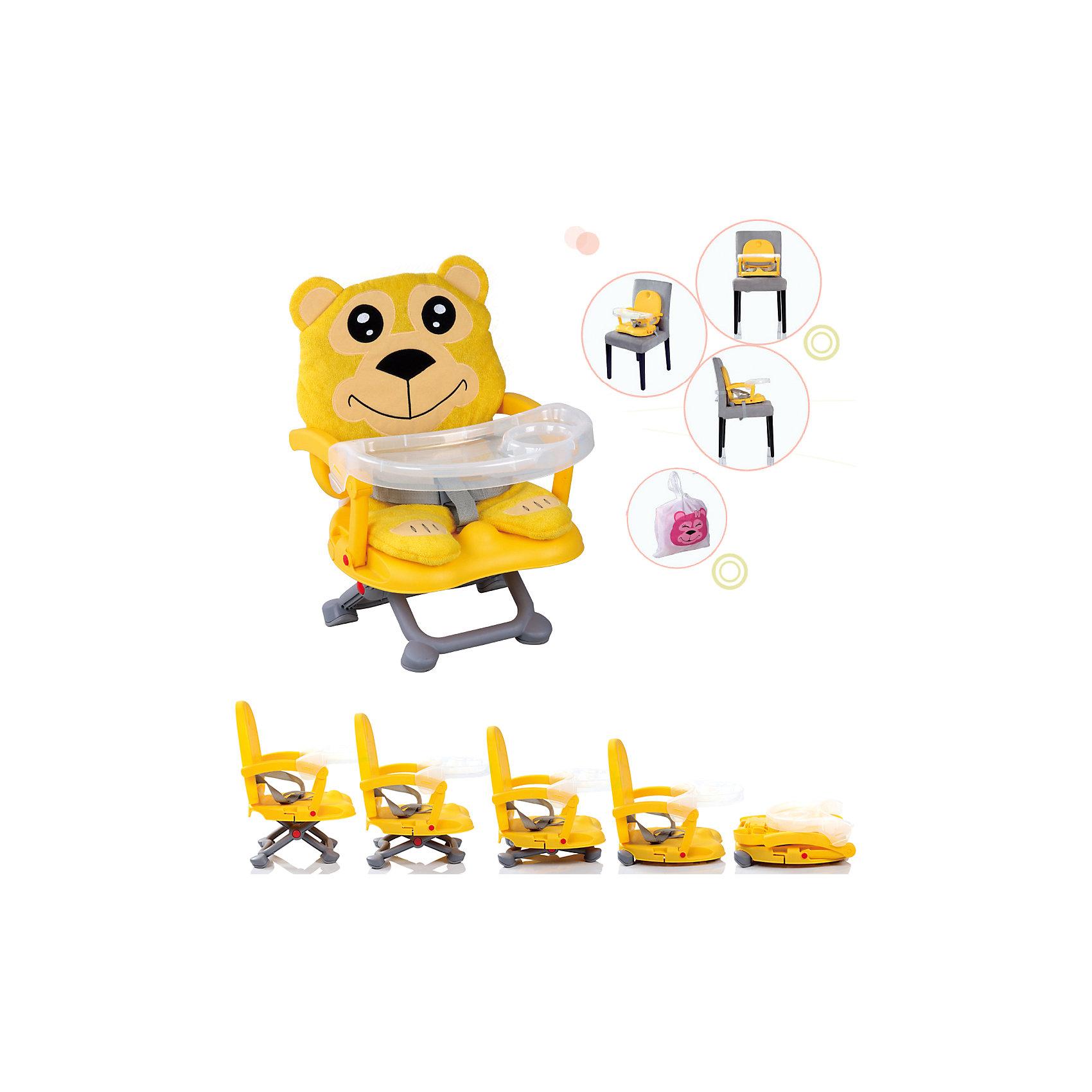 Стульчик для кормления H-1 Babies, BellyСтульчик для кормления H-1 Babies, Belly - легкая, простая и компактная модель для комфортного кормления малыша дома и в путешествии.<br>Компактный яркий стульчик для кормления H-1 Belly от Babies (Бэйбис) идеален как для домашнего использования, так и для поездок. Он легко и быстро складывается, не занимает много места при хранении и перевозке. Стульчик выполнен в ярко-желтом цвете и понравится и мальчикам, и девочкам. Мягкий чехол изготовлен в виде медведя. Предусмотрена удобная съемная столешница с бортиками и подстаканником. Нескользящие ножки устойчивы на поверхности. Стульчик можно использовать как самостоятельный предмет мебели или как бустер, сложив ножки опоры и прикрепив к обычному стулу с помощью специальных ремней, входящих в комплект.<br><br>Дополнительная информация:<br><br>- Возраст детей: от полугода до 3 лет<br>- Максимальная нагрузка: 15 кг.<br>- Компактный, легкий<br>- Красивый дизайн<br>- Устойчивая конструкция<br>- Удобные ножки, регулируются по высоте в 3 положениях<br>- Просторное сиденье<br>- Оснащен съемным чехлом, который можно стирать<br>- Трехточечный ремень безопасности<br>- Предусмотрен мешок для транспортировки<br>- Цвет: ярко-желтый<br>- Материал: качественный пластик, текстиль<br>- Вес: 2 кг.<br>- Размер стульчика: 36 х 38 х 50 см.<br><br>Стульчик для кормления H-1 Babies, Belly можно купить в нашем интернет-магазине.<br><br>Ширина мм: 375<br>Глубина мм: 345<br>Высота мм: 770<br>Вес г: 1600<br>Возраст от месяцев: 6<br>Возраст до месяцев: 36<br>Пол: Унисекс<br>Возраст: Детский<br>SKU: 4811278