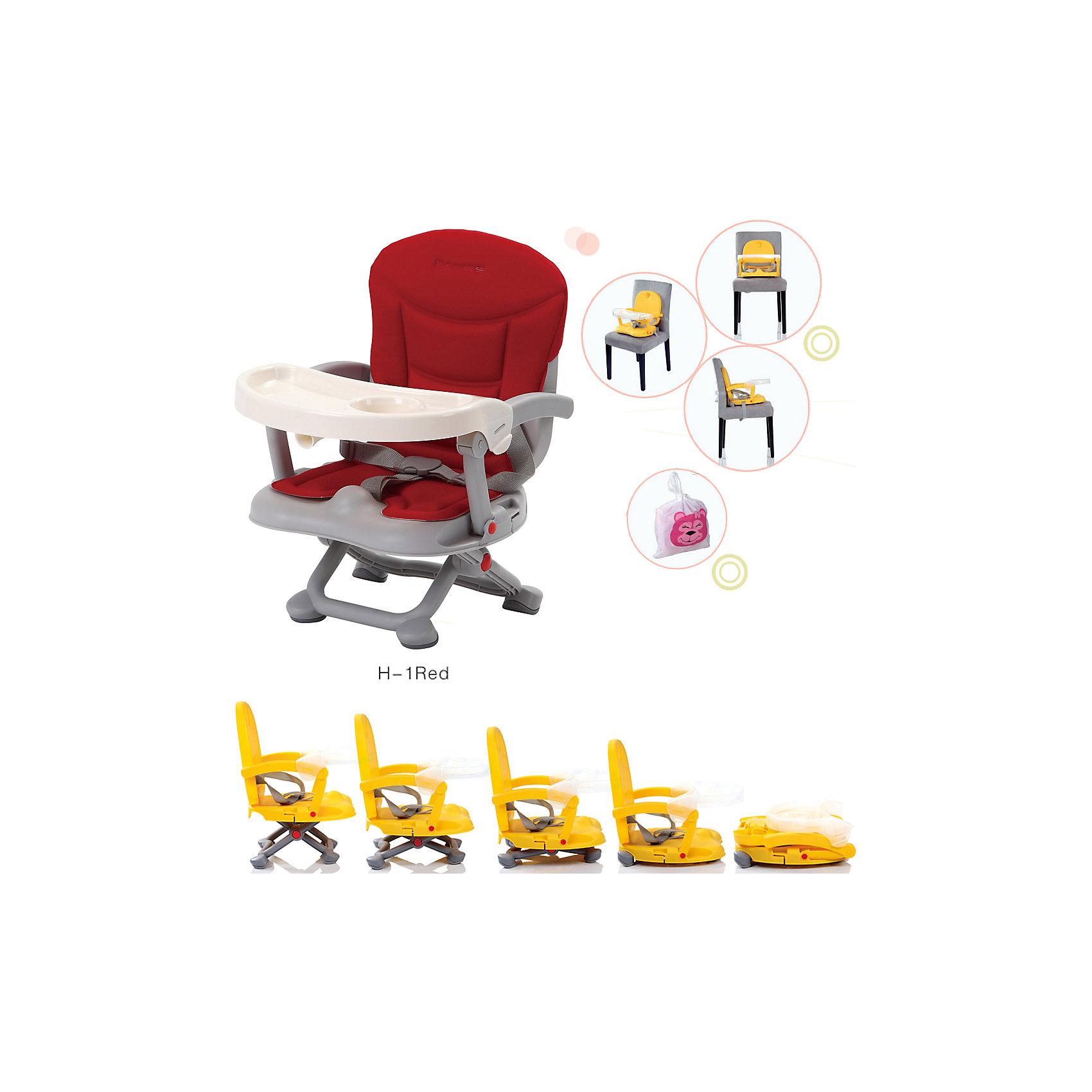 Стульчик для кормления H-1, Babies, RedСтульчик для кормления H-1, Babies, Red - легкая, простая и компактная модель для комфортного кормления малыша дома и в путешествии.<br>Компактный стульчик для кормления H-1 Red от Babies (Бэйбис) идеален как для домашнего использования, так и для поездок. Он легко и быстро складывается, не занимает много места при хранении и перевозке. Мягкий комфортный, приятный на ощупь съемный чехол красного цвета можно стирать. Предусмотрена удобная съемная столешница с бортиками и подстаканником. Нескользящие ножки устойчивы на поверхности. Стульчик можно использовать как самостоятельный предмет мебели или как бустер, сложив ножки опоры и прикрепив к обычному стулу с помощью специальных ремней, входящих в комплект.<br><br>Дополнительная информация:<br><br>- Возраст детей: от полугода до 3 лет<br>- Максимальная нагрузка: 15 кг.<br>- Компактный, легкий<br>- Красивый дизайн<br>- Устойчивая конструкция<br>- Удобные ножки, регулируются по высоте в 3 положениях<br>- Просторное сиденье<br>- Трехточечный ремень безопасности<br>- Предусмотрен мешок для транспортировки<br>- Материал: качественный пластик, текстиль<br>- Вес: 2 кг.<br>- Размер стульчика: 36 х 38 х 50 см.<br><br>Стульчик для кормления H-1, Babies, Red можно купить в нашем интернет-магазине.<br><br>Ширина мм: 375<br>Глубина мм: 345<br>Высота мм: 770<br>Вес г: 1600<br>Возраст от месяцев: 6<br>Возраст до месяцев: 36<br>Пол: Унисекс<br>Возраст: Детский<br>SKU: 4811284