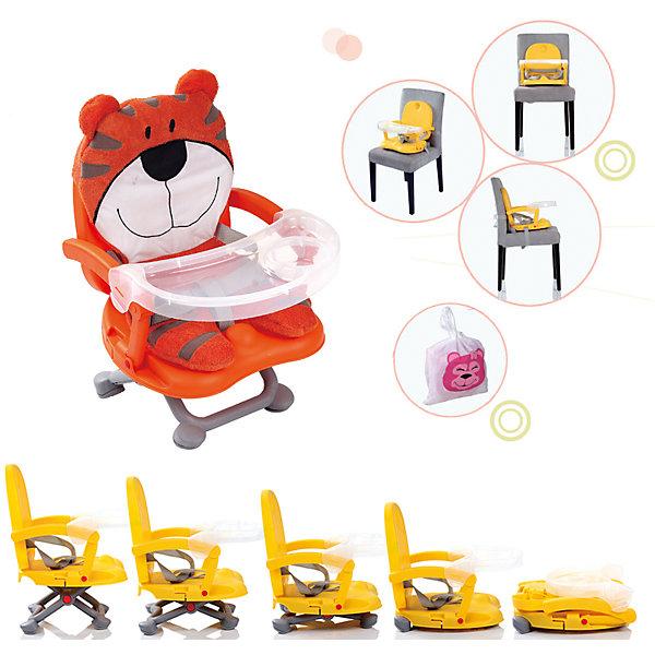 Стульчик для кормления H-, Babies, TigerСтульчики для кормления<br>Стульчик для кормления H-, Babies, Tiger - легкая, простая и компактная модель для комфортного кормления малыша дома и в путешествии.<br>Компактный стульчик для кормления H-1 Tiger от Babies (Бэйбис) идеален как для домашнего использования, так и для поездок. Он легко и быстро складывается, не занимает много места при хранении и перевозке. Мягкий чехол изготовлен в виде улыбающегося тигра. Предусмотрена удобная съемная столешница с бортиками и подстаканником. Нескользящие ножки устойчивы на поверхности. Стульчик можно использовать как самостоятельный предмет мебели или как бустер, сложив ножки опоры и прикрепив к обычному стулу с помощью специальных ремней, входящих в комплект.<br><br>Дополнительная информация:<br><br>- Возраст детей: от полугода до 3 лет<br>- Максимальная нагрузка: 15 кг.<br>- Компактный, легкий<br>- Красивый дизайн<br>- Устойчивая конструкция<br>- Удобные ножки, регулируются по высоте в 3 положениях<br>- Просторное сиденье<br>- Оснащен съемным чехлом, который можно стирать<br>- Трехточечный ремень безопасности<br>- Предусмотрен мешок для транспортировки<br>- Материал: качественный пластик, текстиль<br>- Вес: 2 кг.<br>- Размер стульчика: 36 х 38 х 50 см.<br><br>Стульчик для кормления H-, Babies, Tiger можно купить в нашем интернет-магазине.<br>Ширина мм: 375; Глубина мм: 345; Высота мм: 770; Вес г: 1600; Возраст от месяцев: 6; Возраст до месяцев: 36; Пол: Унисекс; Возраст: Детский; SKU: 4811286;