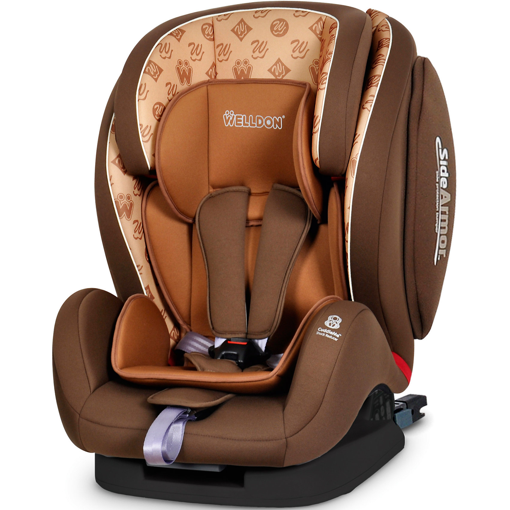 Welldon Автокресло Encore Fit SideArmor & CuddleMe ISO-FIX, 9-36 кг., Welldon, Hallmarks Brown группа 1 2 3 от 9 до 36 кг welldon encore fit