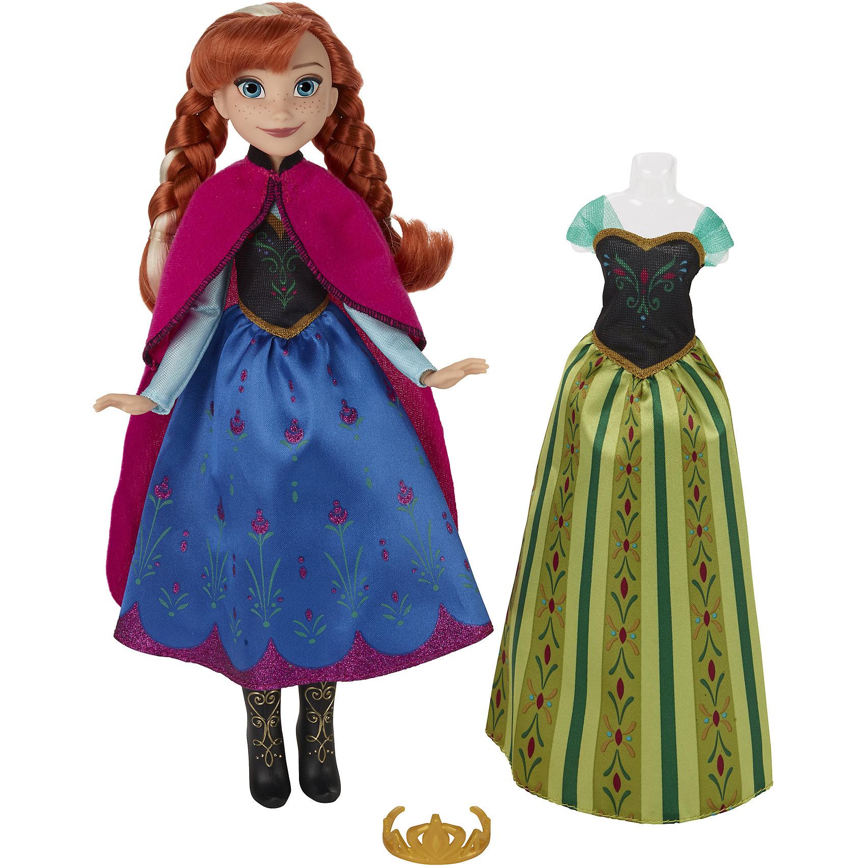 Кукла со сменным нарядом, Холодное сердцеДевочки обожают играть в куклы. Это не только весело, но и помогает развить ключевые социальные навыки! Кукла в виде персонажа из популярного диснеевского мультфильма Холодное сердце приведет в восторг любую девочку! Она одета в соответствующий мультику наряд. Её конечности подвижны, она дополнена оригинальными аксессуарами. Плюс - к кукле прилагается сменный наряд.<br>Эта кукла обязательно порадует ребенка! Он станет отличным подарком и поможет девочке развивать свою фантазию и мелкую моторику. Игрушка сделана из качественных и безопасных для ребенка материалов.<br><br>Дополнительная информация:<br><br>цвет: разноцветный;<br>высота: 26-28 см;<br>комплектация: кукла, одежда, аксессуары;<br>материал: пластик, текстиль.<br><br>Куклу со сменным нарядом, Холодное сердце можно купить в нашем магазине.<br><br>Ширина мм: 327<br>Глубина мм: 205<br>Высота мм: 66<br>Вес г: 254<br>Возраст от месяцев: 36<br>Возраст до месяцев: 72<br>Пол: Женский<br>Возраст: Детский<br>SKU: 4811737