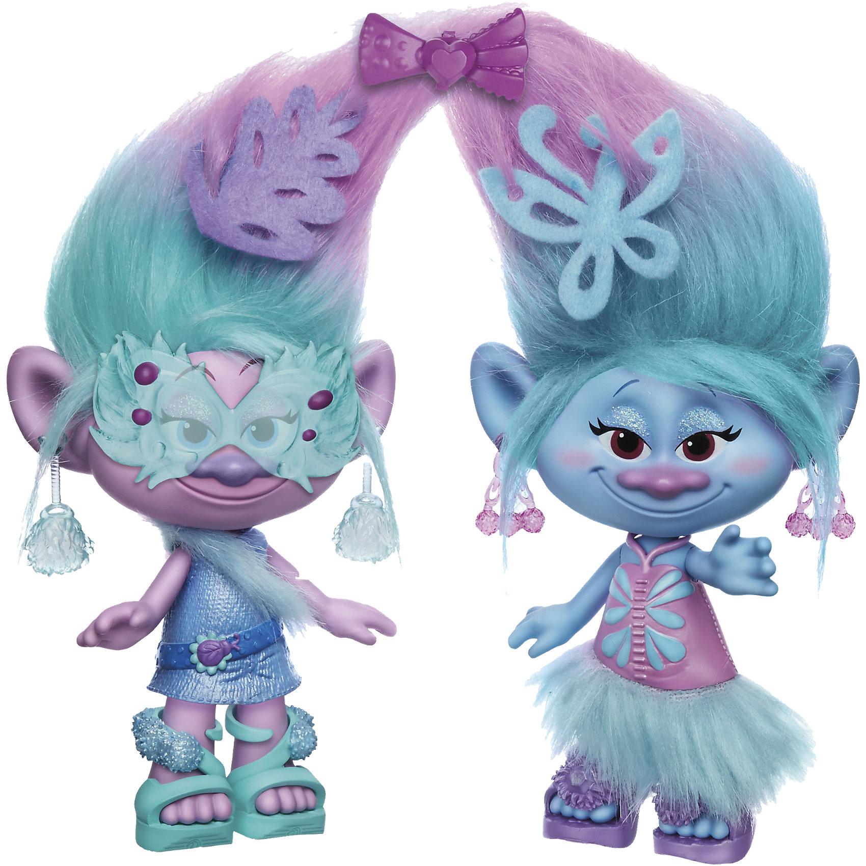 Набор Модные близнецы, ТроллиТролли-близнецы 22,5см высотой, включая роскошные, плюшевые волосы. В комплекте специальная расческа, аксессуары из плюша, петля для причесок, одежду и обувь можно снимать.<br><br>Ширина мм: 358<br>Глубина мм: 269<br>Высота мм: 80<br>Вес г: 491<br>Возраст от месяцев: 48<br>Возраст до месяцев: 96<br>Пол: Женский<br>Возраст: Детский<br>SKU: 4811758