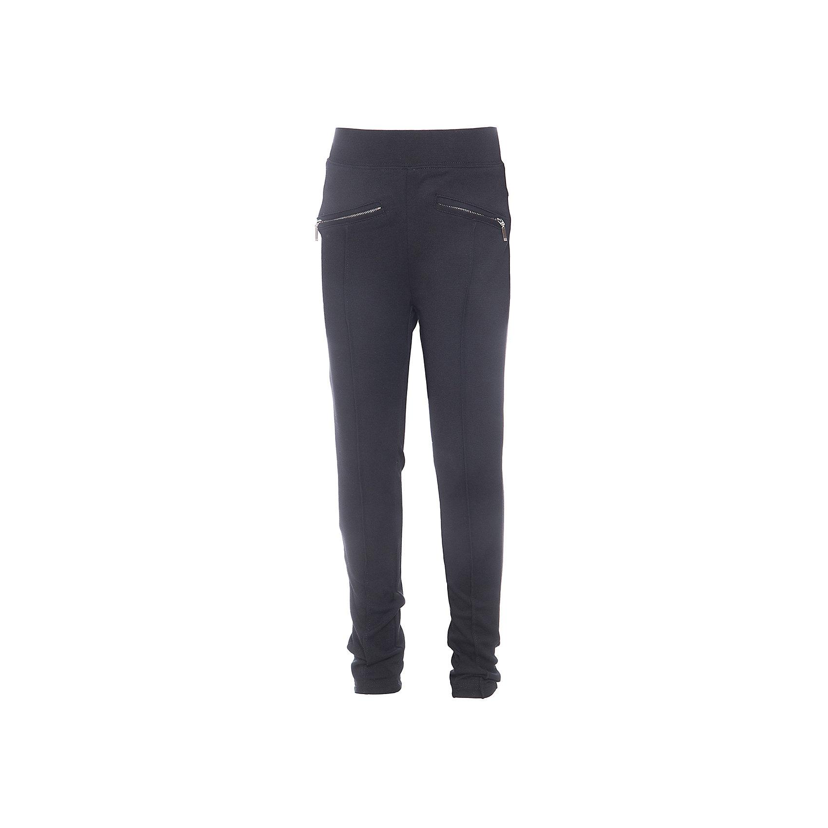 Брюки для девочки LuminosoБрюки<br>Брюки для девочки от известного бренда Luminoso<br>Стильные брюки прямого покроя с декоративными рельефными  стрелками и молниям. Модель выполнена из эластичного трикотажа высокого качества, в пояс вставлена резинка, поэтому в них будет комфортно и удобно. Классические цвета моделей будут гармонировать с любыми предметами гардероба .<br>Состав:<br>65% хлопок, 30% полиэстер,  5% эластан<br><br>Ширина мм: 215<br>Глубина мм: 88<br>Высота мм: 191<br>Вес г: 336<br>Цвет: черный<br>Возраст от месяцев: 84<br>Возраст до месяцев: 96<br>Пол: Женский<br>Возраст: Детский<br>Размер: 128,158,164,134,152,146,140<br>SKU: 4812096