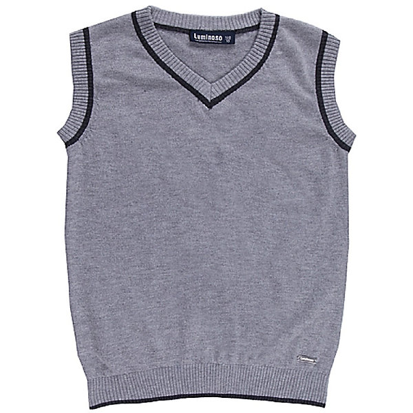 Жилет для мальчика LuminosoЖилеты<br>Жилет для мальчика от известного бренда Luminoso<br>Классический вязаный жилет для мальчика с V-образным вырезом горловины. Изделия не скатывается и хорошо держит форму. Любая рубашка или водолазка идеально подойдет под жилет.<br>Состав:<br>50%шерсть,  2% кашемир, 25% нейлон, 15% вискоза, 8% акрил<br>Ширина мм: 190; Глубина мм: 74; Высота мм: 229; Вес г: 236; Цвет: серый; Возраст от месяцев: 144; Возраст до месяцев: 156; Пол: Мужской; Возраст: Детский; Размер: 158,140,146,152,134,128,164; SKU: 4812134;