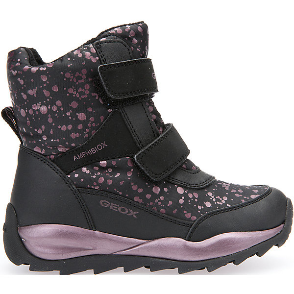Ботинки для девочки GeoxБотинки<br>Полусапожки для девочки GEOX (ГЕОКС)<br>Полусапожки для девочки от GEOX (ГЕОКС) идеально подходят для холодной погоды. Они выполнены из сочетания искусственной кожи и текстиля, имеют плотную мягкую подкладку из искусственного меха, которая согревает чувствительные детские ноги. Термоизоляционная «дышащая» стелька с алюминиевым слоем улучшается тепловое сопротивление в холодных условиях, повышая температуру внутри обуви. Влага не застаивается в обуви, благодаря чему создается идеальный микроклимат, который держит ноги теплыми и сухими, и позволяет им дышать естественно. Колодка соответствует анатомическим особенностям строения детской стопы. Качественная амортизация снижает нагрузку на суставы. Запатентованная гибкая перфорированная подошва со специальной микропористой мембраной обеспечивает естественное дыхание обуви, не пропускает воду, не скользит. Модель имеет усиленный мыс и пятку. Застежки-липучки облегчают снимание и надевание обуви и надежно фиксируют ее на ногах.<br><br>Дополнительная информация:<br><br>- Сезон: зима<br>- Цвет: черный<br>- Материал верха: искусственная кожа, текстиль<br>- Внутренний материал: искусственный мех<br>- Материал стельки: текстиль<br>- Материал подошвы: резина<br>- Тип застежки: липучки<br>- Высота голенища/задника: 12 см.<br>- Технология Amphibiox<br>- Материалы и продукция прошли специальную проверку T?V S?D, на отсутствие веществ, опасных для здоровья покупателей<br><br>Полусапожки для девочки GEOX (ГЕОКС) можно купить в нашем интернет-магазине.<br>Ширина мм: 257; Глубина мм: 180; Высота мм: 130; Вес г: 420; Цвет: черный; Возраст от месяцев: 36; Возраст до месяцев: 48; Пол: Женский; Возраст: Детский; Размер: 27,30,26,31,30,28,28,29; SKU: 4812519;