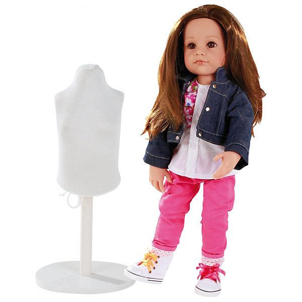 Кукла Ханна Дизайнер, 50 см, G?tzКуклы<br>Очаровательная кукла Ханна-дизайнер станет замечательным подарком для девочки. С необычной куклой , которая так похожа на настоящую девочку, можно проводить много времени вместе, придумывая увлекательные сюжеты для игр. Кукла Gotz с виниловым подвижным телом подходит для активных игр дома и на улице. Куклу можно переодевать и делать различные прически. Кукла имеет длинные темные волосы, которые прочно вшиты для избежания выпадения во время активных игр детей. Ханна одета в стильный наряд, состоящий из ярких брючек, пестрой кофты и джинсовой курточки. На ножках у Ханны - стильные кеды с разноцветной шнуровкой. В комплекте с куклой девочка найдет небольшой манекен, а также всё необходимое для того, чтобы создать куколке дополнительный стильный наряд. В комплекте: Кукла Ханна в одежде и обуви, Манекен, Ткань, Ножницы, Сантиметр, Иголки, Сумочка, Инструкция. Кукла, одежда и аксессуары Gotz выполнены из качественных материалов с учетом необходимых стандартов, соответствующих европейским нормативам. Куклу можно мы<br><br>Ширина мм: 527<br>Глубина мм: 384<br>Высота мм: 140<br>Вес г: 1200<br>Возраст от месяцев: 36<br>Возраст до месяцев: 144<br>Пол: Женский<br>Возраст: Детский<br>SKU: 4813060