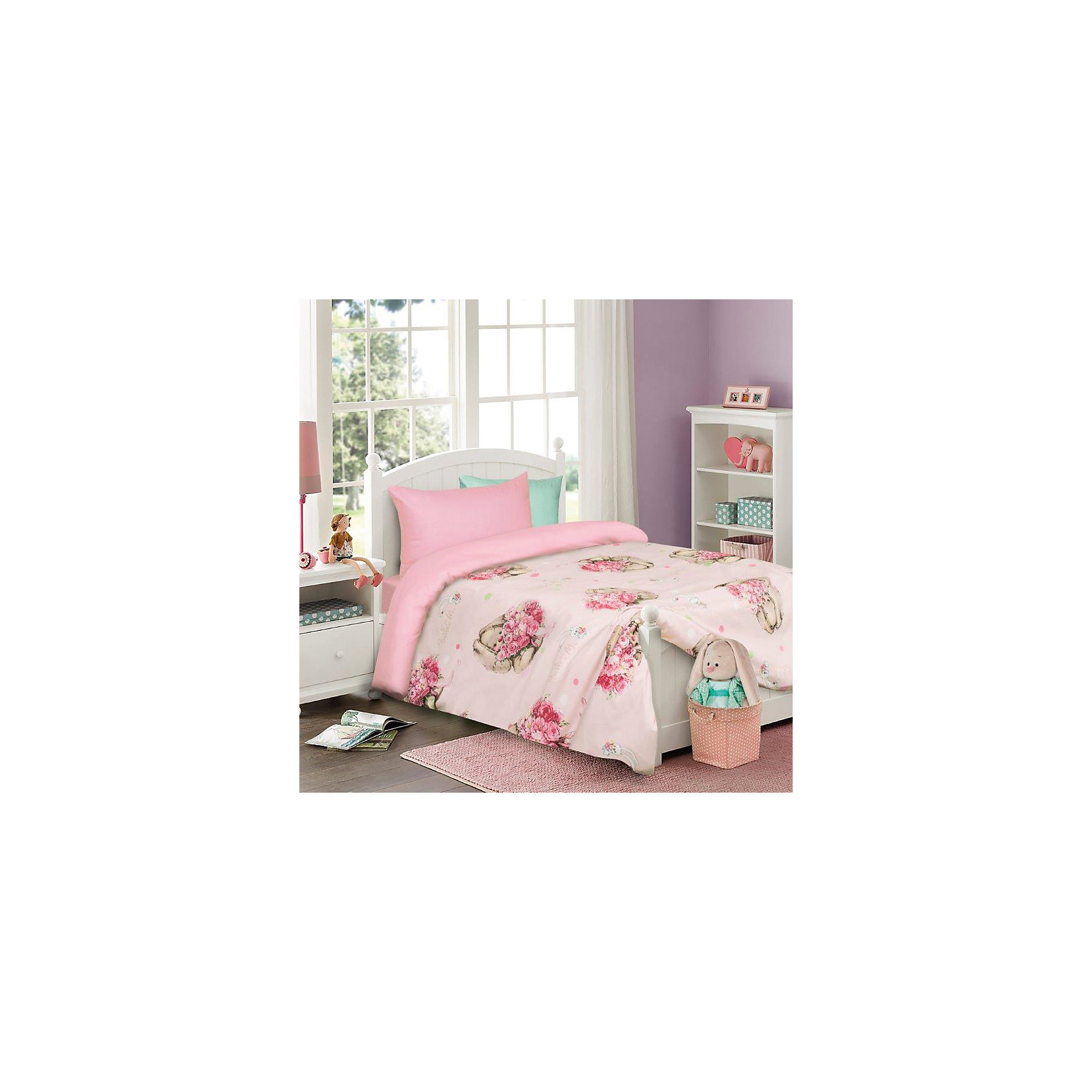 Мона Лиза Постельное белье детское Зайка (на розовом 50х70), Mona-Liza мона лиза 2 спальное наволочка 50х70 samui