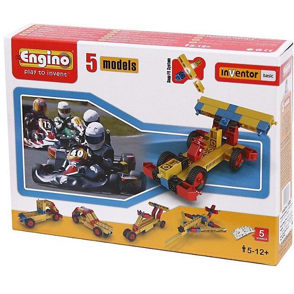 Конструктор базовый: 5 моделейПластмассовые конструкторы<br>Конструктор базовый: 5 моделей - это отличная возможность сочетать игру с развитием познавательных способностей ребенка.<br>Конструктор ENGINO позволяет создать 5 универсальных моделей гоночных болидов и авиатранспорта в комплекте предусмотрен полный комплект деталей и соединительных элементов: шестеренки, рычаги, колеса, блоки, болты и другие элементы механизмов. Набор оснащен детальными инструкциями для главных моделей. Базовые элементы конструктора - это длинные четырехгранные стержни, к которым можно подсоединять детали двумя разными способами. Все детали и соединительные элементы различаются как по форме и размерам, так и по своим функциональным характеристикам. Некоторые стержни могут менять свою длину и фиксироваться в нужном положении. Использование системы многогранных стержней и разъемов, которые наделены уникальными геометрическими свойствами, предусматривает возможность соединения до 6 сторон одновременно! Детали из всех наборов ENGINO подходят друг к другу. Можно докупать наборы постепенно и строить все большие по масштабам модели и здания. Благодаря отсутствию слишком мелких деталей и легкости сборки конструктор рекомендован детям от 5 лет.<br><br>Дополнительная информация:<br><br>- В наборе: детали для сборки, инструкция<br>- Материал: пластик<br>- Размер упаковки: 22 х 16 х 4 см.<br>- Вес: 220 гр.<br><br>Конструктор базовый: 5 моделей можно купить в нашем интернет-магазине.<br><br>Ширина мм: 160<br>Глубина мм: 220<br>Высота мм: 45<br>Вес г: 245<br>Возраст от месяцев: 60<br>Возраст до месяцев: 144<br>Пол: Унисекс<br>Возраст: Детский<br>SKU: 4814996