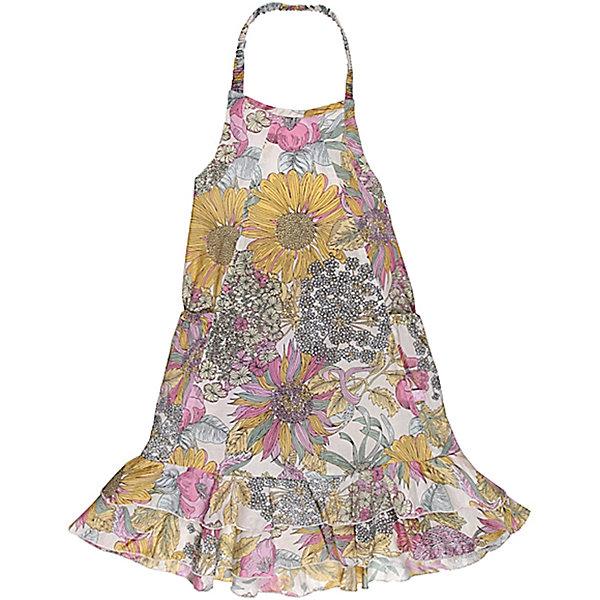 Сарафан для девочки Sweet BerryЛетние платья и сарафаны<br>Сарафан для девочки от известного бренда Sweet Berry<br>Летний сарафан на девочку в крупный цветочный принт, выполнен из тонкого поплина. Модель свободного покроя, по низу пришиты - два волана.<br>Состав:<br>100% хлопок<br><br>Ширина мм: 236<br>Глубина мм: 16<br>Высота мм: 184<br>Вес г: 177<br>Цвет: белый<br>Возраст от месяцев: 72<br>Возраст до месяцев: 84<br>Пол: Женский<br>Возраст: Детский<br>Размер: 122,128,98,104,110,116<br>SKU: 4816239