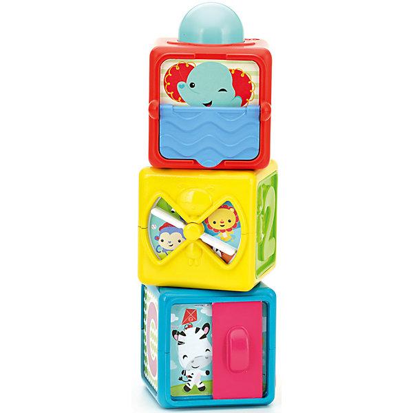 Набор кубиков, Fisher-PriceРазвивающие игрушки<br>Набор кубиков, Fisher-Price<br><br>Характеристики:<br><br>• Количество кубиков: 3 штуки<br>• Возраст: от 6 месяцев<br>• Материал: пластик<br>• Размер упаковки: 22х11х20 см<br><br>Увлекательные кубики помогут малышу с помощью игры познать множество интересных вещей. Каждый кубик – это целый развивающий комплекс. На каждом кубике есть объемные буквы и цифры, которые не только научат ребенка основам, но еще и разовьют моторику рук. Кубики накладываются друг на друга в любом порядке. В голубом кубике малыш найдет вращающийся барабан, в желтом веселый диск, который при кручении щелкает, а в красном – колесико с шумными бусами и многое другое.<br><br>Набор кубиков, Fisher-Price можно купить в нашем интернет-магазине.<br><br>Ширина мм: 205<br>Глубина мм: 187<br>Высота мм: 110<br>Вес г: 565<br>Возраст от месяцев: 6<br>Возраст до месяцев: 18<br>Пол: Унисекс<br>Возраст: Детский<br>SKU: 4816294