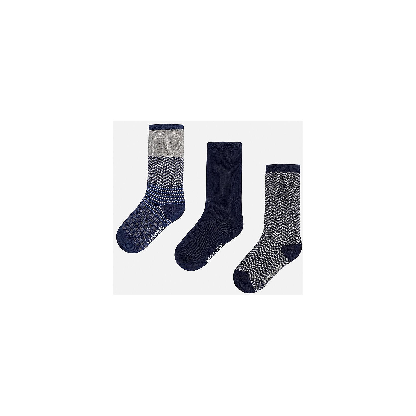 Mayoral Комплект:3 пары носков для мальчика Mayoral mayoral для мальчика темно синяя