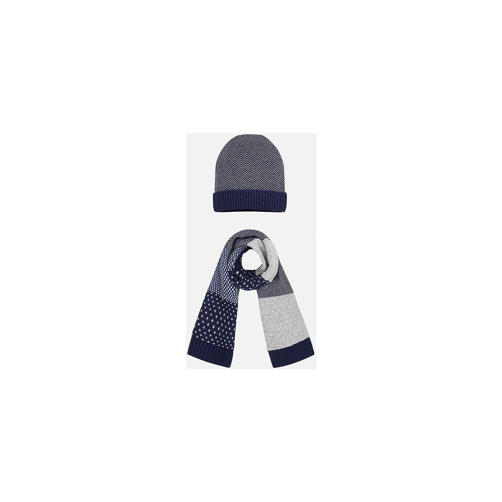 Mayoral Комплект: шапка-шарф для мальчика Mayoral