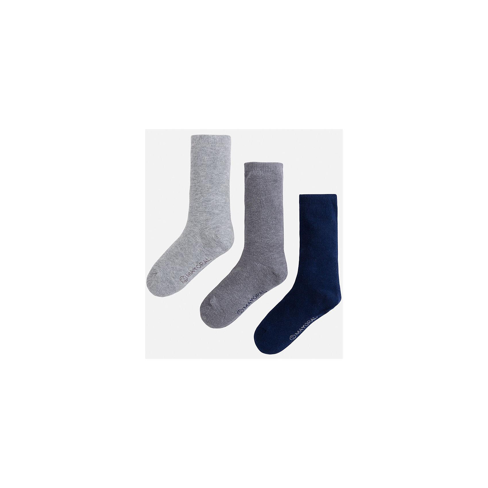 Mayoral Носки для мальчика, 3 пары mayoral mayoral носки 3 шт белый серый синий