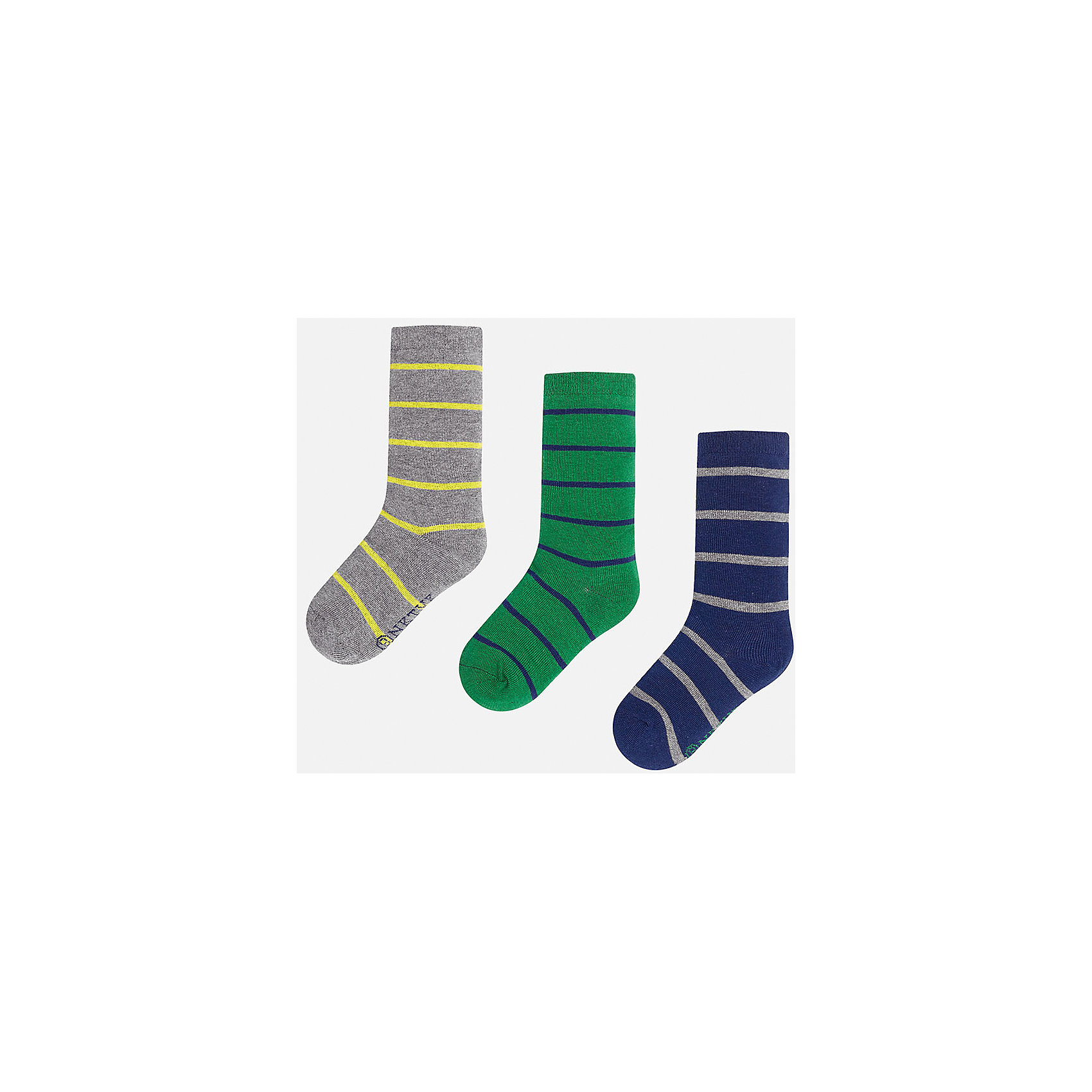 Носки для мальчика MayoralНоски<br>Комплект носков для мальчика от известного испанского бренда Mayoral. Все носки изготовлены из дышащих, водоотталкивающих материалов. Яркие носки в полоску - хороший выбор на каждый день!<br>Дополнительная информация:<br>-цвета: серый/желтый, зеленый/синий, синий/серый<br>-состав: 72% хлопок, 25% полиамид, 3% эластан<br>Носки Mayoral можно приобрести в нашем интернет-магазине.<br><br>Ширина мм: 87<br>Глубина мм: 10<br>Высота мм: 105<br>Вес г: 115<br>Цвет: зеленый<br>Возраст от месяцев: 84<br>Возраст до месяцев: 96<br>Пол: Мужской<br>Возраст: Детский<br>Размер: 8,18,10,16,14,12<br>SKU: 4820253