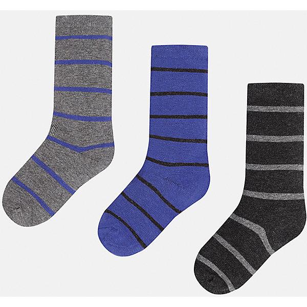 Носки для мальчика MayoralНоски<br>Комплект носков для мальчика от известного испанского бренда Mayoral. Все носки изготовлены из дышащих, водоотталкивающих материалов. Яркие носки в полоску - хороший выбор на каждый день!<br>Дополнительная информация:<br>-цвета: серый/фиолетовый, фиолетовый/черный, черный/серый<br>-состав: 72% хлопок, 25% полиамид, 3% эластан<br>Носки Mayoral можно приобрести в нашем интернет-магазине.<br>Ширина мм: 87; Глубина мм: 10; Высота мм: 105; Вес г: 115; Цвет: черный/серый; Возраст от месяцев: 204; Возраст до месяцев: 216; Пол: Мужской; Возраст: Детский; Размер: 18,14,16,12,8,10; SKU: 4820260;