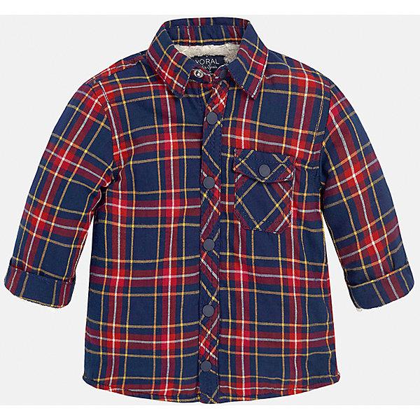 Рубашка для мальчика MayoralБлузки и рубашки<br>Рубашка для мальчика от популярного испанского бренда Mayoral(Майорал) изготовлена из натурального хлопка, есть теплая подкладка. Рубашка застегивается на кнопки, на груди карман. Красивая клетчатая рубашка прекрасно подойдет юношам!<br><br>Дополнительная информация: <br>Состав: 100% хлопок. Подкладка: 56% эластомультиэстер, 44% полиэстер<br>Цвет: красный/темно-синий<br>Рубашку для мальчика Mayoral(Майорал) можно купить в нашем интернет-магазине.<br><br>Ширина мм: 174<br>Глубина мм: 10<br>Высота мм: 169<br>Вес г: 157<br>Цвет: бордовый<br>Возраст от месяцев: 6<br>Возраст до месяцев: 9<br>Пол: Мужской<br>Возраст: Детский<br>Размер: 74,92,80,86<br>SKU: 4820570