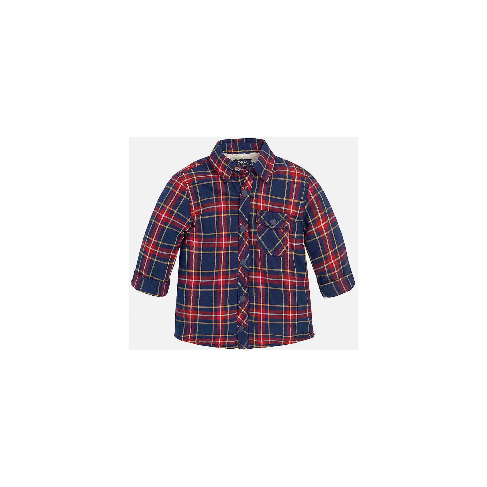 Рубашка для мальчика MayoralРубашка для мальчика от популярного испанского бренда Mayoral(Майорал) изготовлена из натурального хлопка, есть теплая подкладка. Рубашка застегивается на кнопки, на груди карман. Красивая клетчатая рубашка прекрасно подойдет юношам!<br><br>Дополнительная информация: <br>Состав: 100% хлопок. Подкладка: 56% эластомультиэстер, 44% полиэстер<br>Цвет: красный/темно-синий<br>Рубашку для мальчика Mayoral(Майорал) можно купить в нашем интернет-магазине.<br><br>Ширина мм: 174<br>Глубина мм: 10<br>Высота мм: 169<br>Вес г: 157<br>Цвет: бордовый<br>Возраст от месяцев: 6<br>Возраст до месяцев: 9<br>Пол: Мужской<br>Возраст: Детский<br>Размер: 74,92,86,80<br>SKU: 4820570