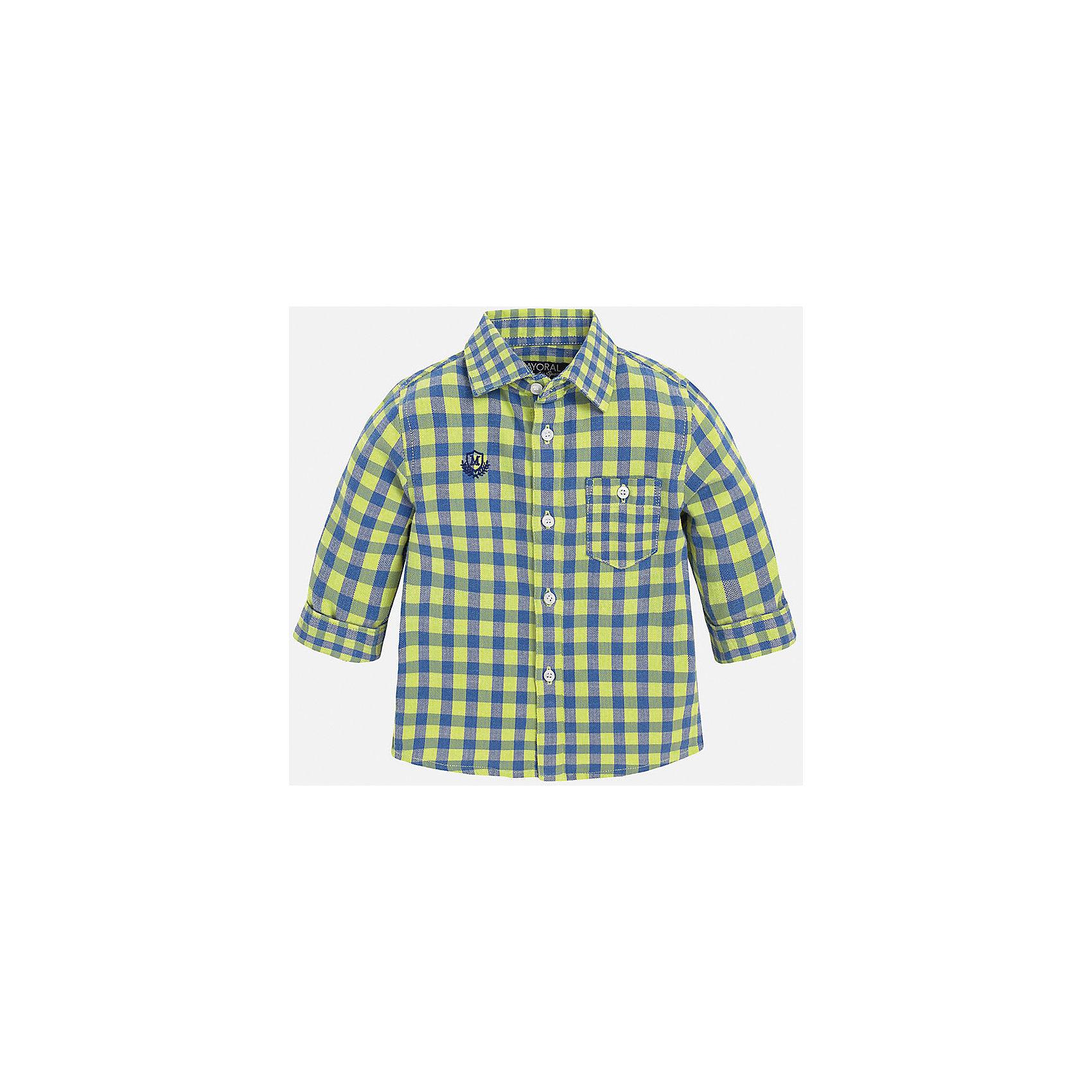 Рубашка для мальчика MayoralБлузки и рубашки<br>Рубашка для мальчика от известного испанского бренда Mayoral. Классическая клетчатая рубашка отлично подойдет к гардеробу вашего ребенка! <br>Дополнительная информация:<br>-прямой силуэт<br>-укороченные рукава<br>-карман и эмблема фирмы на груди<br>-застегивается на пуговицы<br>-цвет: желтый/синий<br>-состав: 100% хлопок<br>Рубашку для мальчика Mayoral вы можете приобрести в нашем интернет-магазине<br><br>Ширина мм: 174<br>Глубина мм: 10<br>Высота мм: 169<br>Вес г: 157<br>Цвет: желтый<br>Возраст от месяцев: 12<br>Возраст до месяцев: 15<br>Пол: Мужской<br>Возраст: Детский<br>Размер: 80,92,86<br>SKU: 4820585