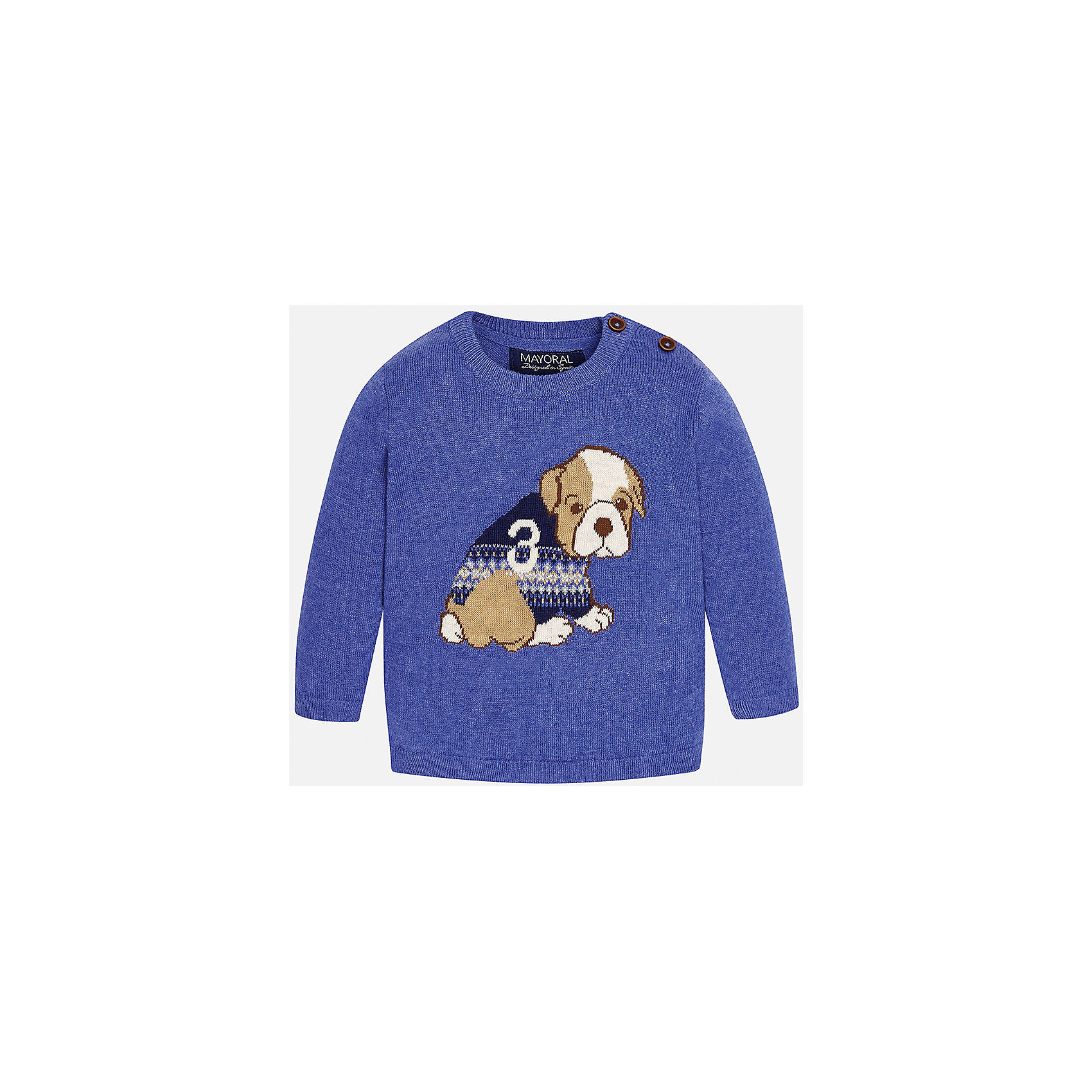 Свитер для мальчика MayoralТолстовки, свитера, кардиганы<br>Свитер для мальчика от известного испанского бренда Mayoral. Изготовлен из качественных дышащих материалов. Имеет 2 пуговицы у ворота и рисунок с собакой спереди. Прекрасный вариант на каждый день!<br>Дополнительная информация:<br>-прямой силуэт<br>-длинные рукава<br>-2 крупных пуговицы у ворота<br>-цвет: фиолетовый<br>-состав: 60% хлопок, 30% полиамид, 10% шерсть<br>Свитер Mayoral можно приобрести в нашем интернет-магазине<br><br>Ширина мм: 190<br>Глубина мм: 74<br>Высота мм: 229<br>Вес г: 236<br>Цвет: фиолетовый<br>Возраст от месяцев: 18<br>Возраст до месяцев: 24<br>Пол: Мужской<br>Возраст: Детский<br>Размер: 92,74,86,80<br>SKU: 4820611