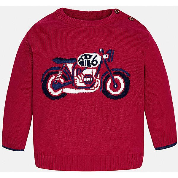 Свитер для мальчика MayoralСвитера и кардиганы<br>Свитер для мальчика от известного испанского бренда Mayoral отлично подойдет для повседневной носки.  Свитер изготовлен из качественных дышащих тканей. Есть две пуговицы у ворота; спереди украшен рисунком мотоцикл<br>Дополнительная информация:<br>-прямой силуэт<br>-длинные рукава<br>-2 пуговицы у ворота<br>-цвет: красный<br>-состав: 60% хлопок, 30% полиамид, 10% шерсть<br>Свитер Mayoral можно приобрести в нашем интернет-магазине<br>Ширина мм: 190; Глубина мм: 74; Высота мм: 229; Вес г: 236; Цвет: бордовый; Возраст от месяцев: 6; Возраст до месяцев: 9; Пол: Мужской; Возраст: Детский; Размер: 74,80,86,92; SKU: 4820636;