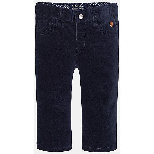 Брюки для мальчика MayoralДжинсы и брючки<br>Брюки для мальчика от известного испанского бренда Mayoral. Созданы специально для тех, кто ценит стиль и качество!<br>Дополнительная информация:<br>-по 2 кармана спереди и сзади<br>-застежка-пуговица<br>-резинка на поясе<br>-цвет: темно-синий<br>-состав: 98% хлопок, 2% эластан<br>Брюки Mayoral можно приобрести в нашем интернет-магазине.<br><br>Ширина мм: 215<br>Глубина мм: 88<br>Высота мм: 191<br>Вес г: 336<br>Цвет: синий<br>Возраст от месяцев: 6<br>Возраст до месяцев: 9<br>Пол: Мужской<br>Возраст: Детский<br>Размер: 74,92,80,86<br>SKU: 4820714