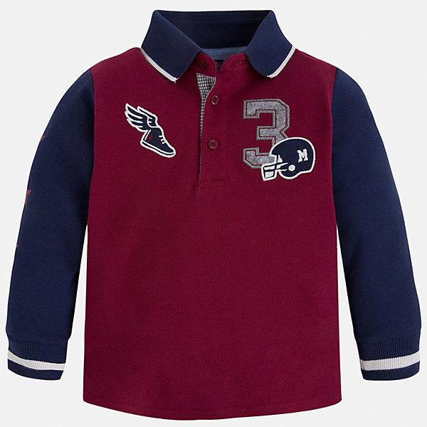 Рубашка-поло для мальчика MayoralФутболки с длинным рукавом<br>Рубашка-поло для мальчика Mayoral (Майорал) – это стильная, модная и практичная модель.<br>Рубашка-поло с длинными рукавами от известной испанской марки Mayoral (Майорал) выполненная из натурального хлопка, станет прекрасным дополнением гардероба вашего мальчика. У рубашки отложной воротник. Ворот застегивается на пуговицы. Комфортный прямой крой гарантирует свободу движений.<br><br>Дополнительная информация:<br><br>- Состав: 100% хлопок<br>- Уход: бережная стирка при 30 градусах<br><br>Рубашку-поло для мальчика Mayoral (Майорал) можно купить в нашем интернет-магазине.<br>Ширина мм: 174; Глубина мм: 10; Высота мм: 169; Вес г: 157; Цвет: бордовый; Возраст от месяцев: 48; Возраст до месяцев: 60; Пол: Мужской; Возраст: Детский; Размер: 110,98,104,116,122,128,134; SKU: 4820985;