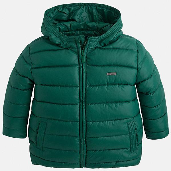 Куртка для мальчика MayoralВерхняя одежда<br>Куртка для мальчика Mayoral (Майорал)<br>Куртка для мальчика от известной испанской марки Mayoral (Майорал) выполнена из водонепроницаемого полиэстера, имеет удобный капюшон, два кармана по бокам. Модель застегивается на молнию, рукава куртки дополнены внутренними манжетами.<br><br>Дополнительная информация:<br><br>- Цвет: зеленый<br>- Верх: 100% полиэстер<br>- Подкладка: 100% полиэстер<br>- Утеплитель: 100% полиэстер<br>- Уход: бережная стирка при 30 градусах<br><br>Куртку для мальчика Mayoral (Майорал) можно купить в нашем интернет-магазине.<br>Ширина мм: 356; Глубина мм: 10; Высота мм: 245; Вес г: 519; Цвет: белый; Возраст от месяцев: 72; Возраст до месяцев: 84; Пол: Мужской; Возраст: Детский; Размер: 122,134,98,104,110,116,128; SKU: 4821057;