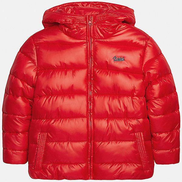 Куртка для мальчика MayoralВерхняя одежда<br>Куртка для мальчика Mayoral (Майорал)<br>Куртка для мальчика от известной испанской марки Mayoral (Майорал) выполнена из водонепроницаемого полиэстера, имеет удобный капюшон, два кармана по бокам. Модель застегивается на молнию, рукава куртки дополнены внутренними манжетами.<br><br>Дополнительная информация:<br><br>- Верх: 100% полиэстер<br>- Подкладка: 100% полиэстер<br>- Утеплитель: 100% полиэстер<br>- Уход: бережная стирка при 30 градусах<br><br>Куртку для мальчика Mayoral (Майорал) можно купить в нашем интернет-магазине.<br><br>Ширина мм: 356<br>Глубина мм: 10<br>Высота мм: 245<br>Вес г: 519<br>Цвет: красный<br>Возраст от месяцев: 168<br>Возраст до месяцев: 180<br>Пол: Мужской<br>Возраст: Детский<br>Размер: 164,128,140,146,152,158<br>SKU: 4821081