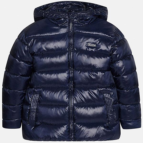 Куртка для мальчика MayoralВерхняя одежда<br>Куртка для мальчика Mayoral (Майорал)<br>Куртка для мальчика от известной испанской марки Mayoral (Майорал) выполнена из водонепроницаемого полиэстера, имеет удобный капюшон, два кармана по бокам. Модель застегивается на молнию, рукава куртки дополнены внутренними манжетами.<br><br>Дополнительная информация:<br><br>- Цвет: темно-синий<br>- Верх: 100% полиэстер<br>- Подкладка: 100% полиэстер<br>- Утеплитель: 100% полиэстер<br>- Уход: бережная стирка при 30 градусах<br><br>Куртку для мальчика Mayoral (Майорал) можно купить в нашем интернет-магазине.<br>Ширина мм: 356; Глубина мм: 10; Высота мм: 245; Вес г: 519; Цвет: синий; Возраст от месяцев: 96; Возраст до месяцев: 108; Пол: Мужской; Возраст: Детский; Размер: 128,152,140,146,158,164; SKU: 4821088;