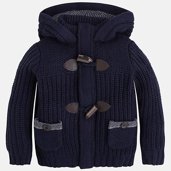 Куртка для мальчика MayoralТолстовки<br>Куртка для мальчика Mayoral (Майорал)<br>Куртка от известной испанской марки Mayoral (Майорал) станет прекрасным дополнением гардероба вашего мальчика и согреет его в прохладную погоду. Куртка крупной вязки имеет большой капюшон и стоячий воротник, два накладных кармана на пуговицах, застегивается на пуговицы-клевант. Отделка манжет и низа куртки выполнена резинкой.<br><br>Дополнительная информация:<br><br>- Цвет: темно-синий<br>- Состав: 100% акрил<br>- Уход: бережная стирка при 30 градусах<br><br>Куртку для мальчика Mayoral (Майорал) можно купить в нашем интернет-магазине.<br>Ширина мм: 356; Глубина мм: 10; Высота мм: 245; Вес г: 519; Цвет: синий; Возраст от месяцев: 96; Возраст до месяцев: 108; Пол: Мужской; Возраст: Детский; Размер: 128,122,134,98,104,110,116; SKU: 4821402;