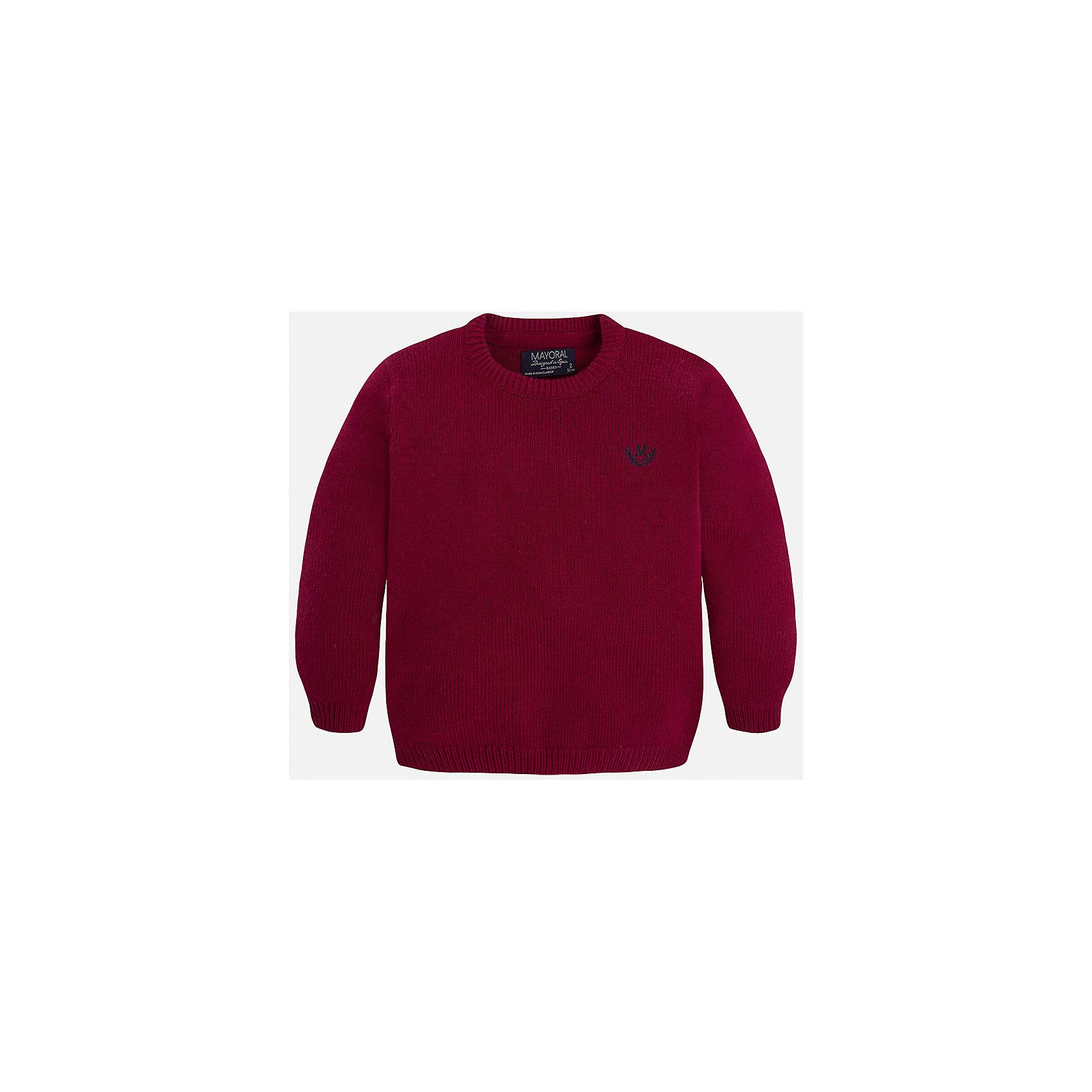Свитер для мальчика MayoralСтильный свитер для настоящего джентльмена! У свитера классический крой, поэтому его можно комбинировать с разными вещими и носить в любой сезон.<br><br>Дополнительная информация:<br><br>- Прямой крой.<br>- Страна бренда: Испания.<br>- Состав: хлопок 60%,полиамид 30%,шерсть 10%.<br>- Цвет: бордовый.<br>- Уход: бережная стирка при 30 градусах.<br><br>Купить свитер для мальчика Mayoral можно в нашем магазине.<br><br>Ширина мм: 190<br>Глубина мм: 74<br>Высота мм: 229<br>Вес г: 236<br>Цвет: бордовый<br>Возраст от месяцев: 96<br>Возраст до месяцев: 108<br>Пол: Мужской<br>Возраст: Детский<br>Размер: 122,134,128,98,104,110,116<br>SKU: 4821663