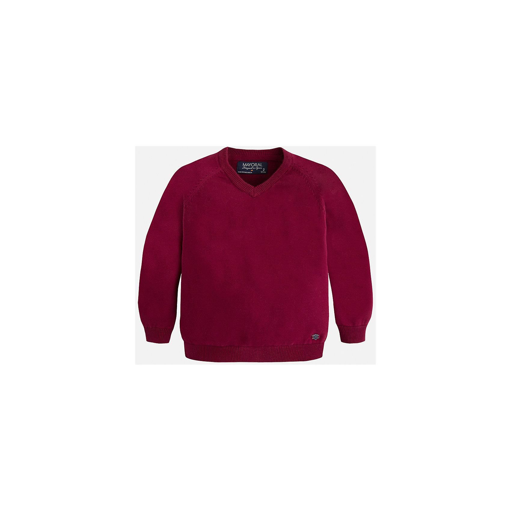 Свитер для мальчика MayoralСтильный свитер для настоящего джентльмена с V- образным вырезом! У свитера классический крой и красивый вырез, поэтому его можно комбинировать с разными вещими и носить в любой сезон.<br><br>Дополнительная информация:<br><br>- Прямой крой,V- образный вырез. <br>- Страна бренда: Испания.<br>- Состав: хлопок 100%<br>- Цвет: бордовый.<br>- Уход: бережная стирка при 30 градусах.<br><br>Купить свитер для мальчика Mayoral можно в нашем магазине.<br><br>Ширина мм: 190<br>Глубина мм: 74<br>Высота мм: 229<br>Вес г: 236<br>Цвет: бордовый<br>Возраст от месяцев: 96<br>Возраст до месяцев: 108<br>Пол: Мужской<br>Возраст: Детский<br>Размер: 128,110,134,122,116,104,98<br>SKU: 4821679