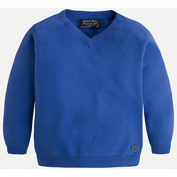 Свитер для мальчика MayoralСвитера и кардиганы<br>Стильный свитер для настоящего джентльмена с V- образным вырезом! У свитера классический крой и красивый вырез, поэтому его можно комбинировать с разными вещими и носить в любой сезон.<br><br>Дополнительная информация:<br><br>- Прямой крой,V- образный вырез. <br>- Страна бренда: Испания.<br>- Состав: хлопок 100%<br>- Цвет: голубой.<br>- Уход: бережная стирка при 30 градусах.<br><br>Купить свитер для мальчика Mayoral можно в нашем магазине.<br><br>Ширина мм: 190<br>Глубина мм: 74<br>Высота мм: 229<br>Вес г: 236<br>Цвет: лиловый<br>Возраст от месяцев: 24<br>Возраст до месяцев: 36<br>Пол: Мужской<br>Возраст: Детский<br>Размер: 98,134,104,110,116,122,128<br>SKU: 4821687