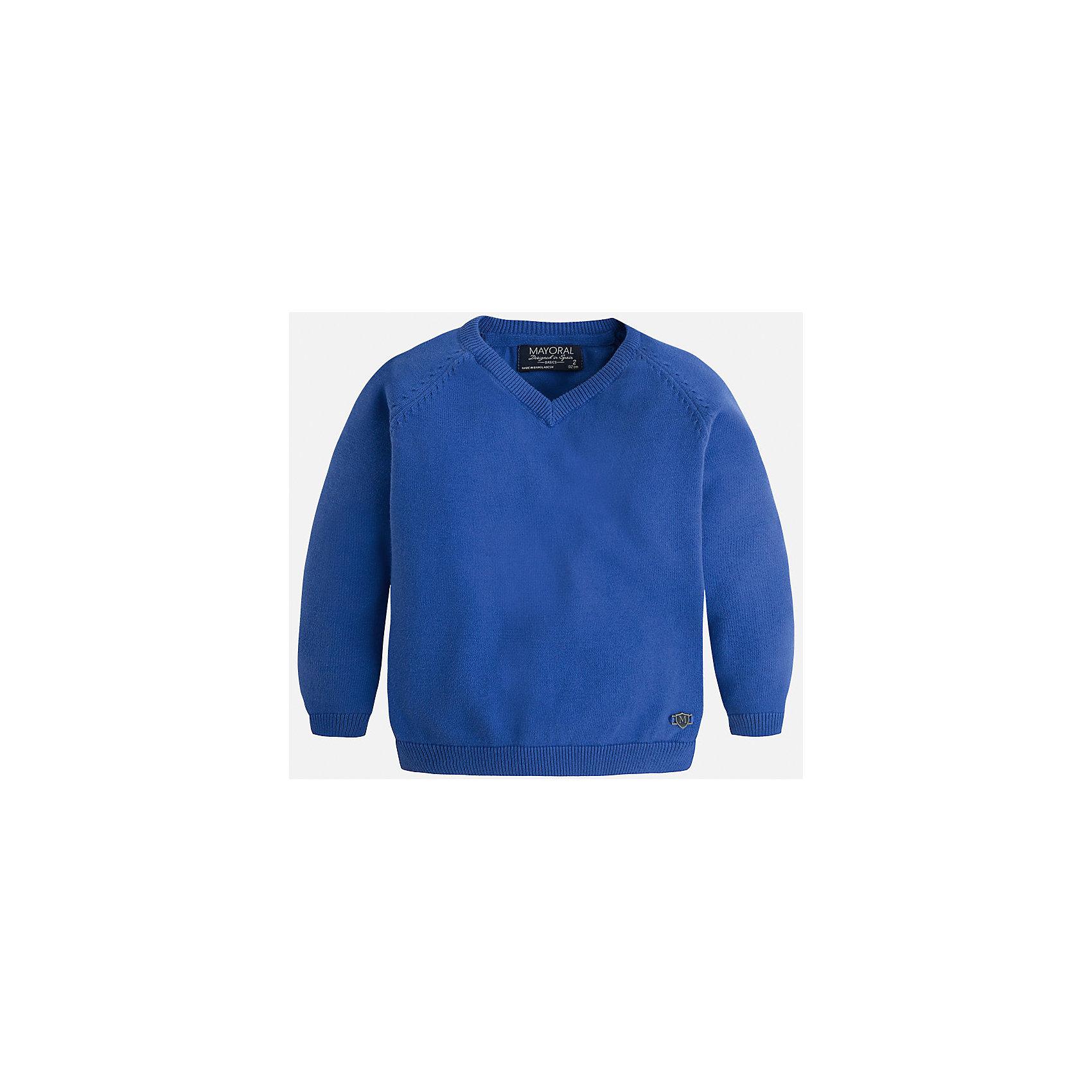 Свитер для мальчика MayoralСтильный свитер для настоящего джентльмена с V- образным вырезом! У свитера классический крой и красивый вырез, поэтому его можно комбинировать с разными вещими и носить в любой сезон.<br><br>Дополнительная информация:<br><br>- Прямой крой,V- образный вырез. <br>- Страна бренда: Испания.<br>- Состав: хлопок 100%<br>- Цвет: голубой.<br>- Уход: бережная стирка при 30 градусах.<br><br>Купить свитер для мальчика Mayoral можно в нашем магазине.<br><br>Ширина мм: 190<br>Глубина мм: 74<br>Высота мм: 229<br>Вес г: 236<br>Цвет: фиолетовый<br>Возраст от месяцев: 24<br>Возраст до месяцев: 36<br>Пол: Мужской<br>Возраст: Детский<br>Размер: 134,104,110,116,122,128,98<br>SKU: 4821687