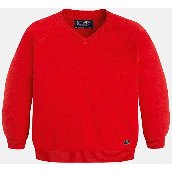 Свитер для мальчика MayoralСвитера и кардиганы<br>Стильный свитер для настоящего джентльмена с V- образным вырезом! У свитера классический крой и красивый вырез, поэтому его можно комбинировать с разными вещими и носить в любой сезон.<br><br>Дополнительная информация:<br><br>- Прямой крой,V- образный вырез. <br>- Страна бренда: Испания.<br>- Состав: хлопок 100%<br>- Цвет: красный.<br>- Уход: бережная стирка при 30 градусах.<br><br>Купить свитер для мальчика Mayoral можно в нашем магазине.<br>Ширина мм: 190; Глубина мм: 74; Высота мм: 229; Вес г: 236; Цвет: коричневый; Возраст от месяцев: 48; Возраст до месяцев: 60; Пол: Мужской; Возраст: Детский; Размер: 134,122,98,104,116,128,110; SKU: 4821695;