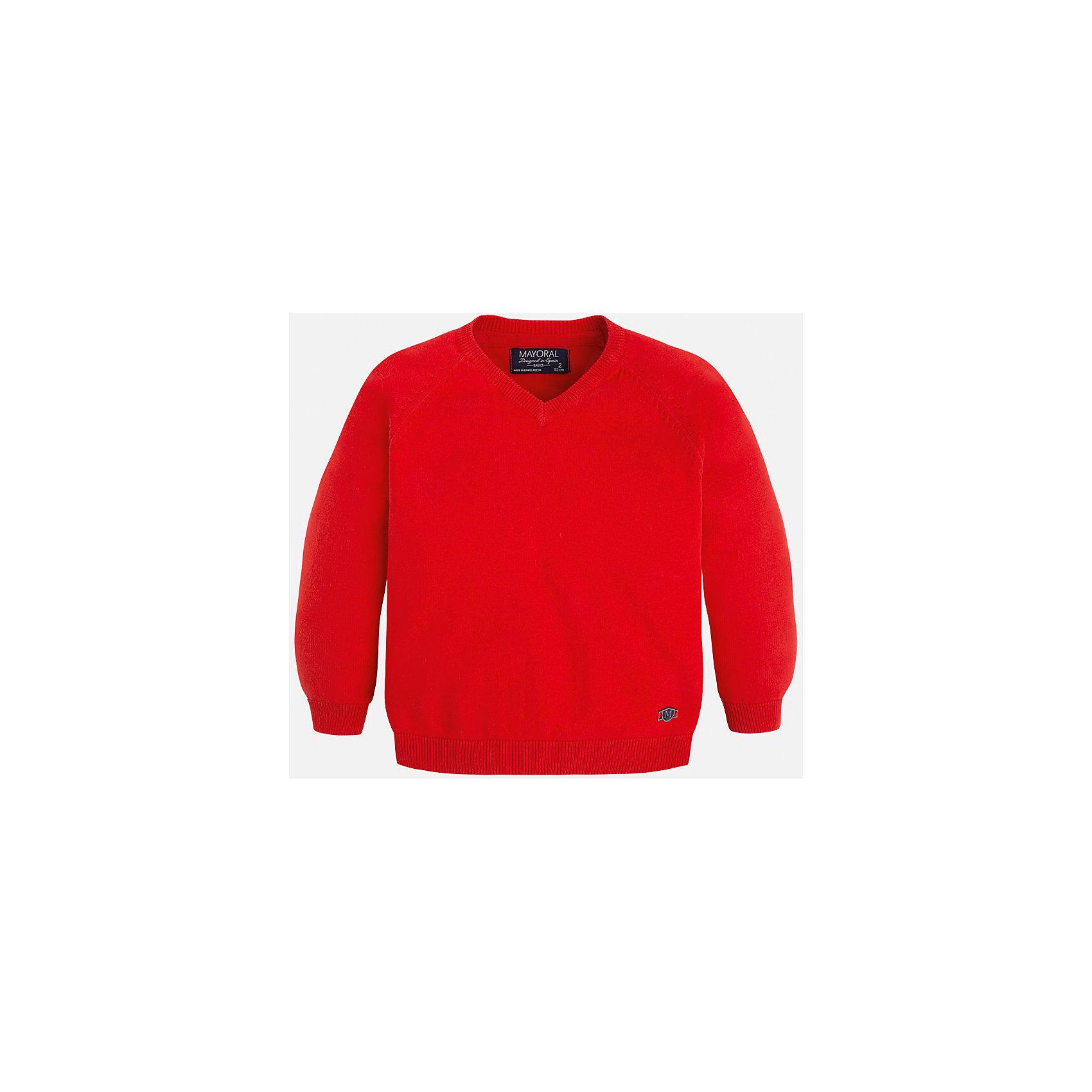 Свитер для мальчика MayoralСвитера и кардиганы<br>Стильный свитер для настоящего джентльмена с V- образным вырезом! У свитера классический крой и красивый вырез, поэтому его можно комбинировать с разными вещими и носить в любой сезон.<br><br>Дополнительная информация:<br><br>- Прямой крой,V- образный вырез. <br>- Страна бренда: Испания.<br>- Состав: хлопок 100%<br>- Цвет: красный.<br>- Уход: бережная стирка при 30 градусах.<br><br>Купить свитер для мальчика Mayoral можно в нашем магазине.<br><br>Ширина мм: 190<br>Глубина мм: 74<br>Высота мм: 229<br>Вес г: 236<br>Цвет: коричневый<br>Возраст от месяцев: 48<br>Возраст до месяцев: 60<br>Пол: Мужской<br>Возраст: Детский<br>Размер: 110,104,98,122,134,128,116<br>SKU: 4821695
