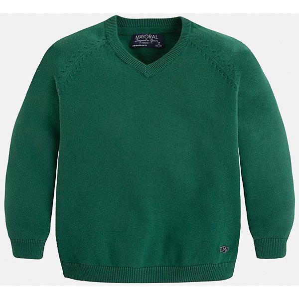 Свитер для мальчика MayoralСвитера и кардиганы<br>Стильный свитер для настоящего джентльмена с V- образным вырезом! У свитера классический крой и красивый вырез, поэтому его можно комбинировать с разными вещими и носить в любой сезон.<br><br>Дополнительная информация:<br><br>- Прямой крой,V- образный вырез. <br>- Страна бренда: Испания.<br>- Состав: хлопок 100%<br>- Цвет: зеленый.<br>- Уход: бережная стирка при 30 градусах.<br><br>Купить свитер для мальчика Mayoral можно в нашем магазине.<br><br>Ширина мм: 190<br>Глубина мм: 74<br>Высота мм: 229<br>Вес г: 236<br>Цвет: зеленый<br>Возраст от месяцев: 60<br>Возраст до месяцев: 72<br>Пол: Мужской<br>Возраст: Детский<br>Размер: 116,110,128,134,122,98,104<br>SKU: 4821703