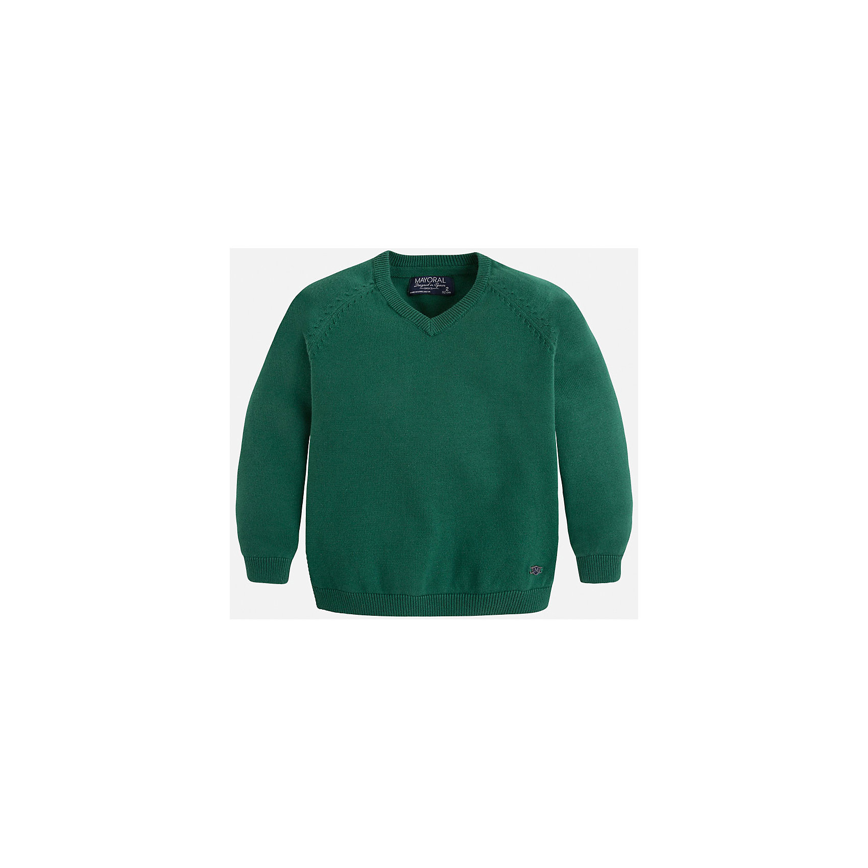 Свитер для мальчика MayoralСвитера и кардиганы<br>Стильный свитер для настоящего джентльмена с V- образным вырезом! У свитера классический крой и красивый вырез, поэтому его можно комбинировать с разными вещими и носить в любой сезон.<br><br>Дополнительная информация:<br><br>- Прямой крой,V- образный вырез. <br>- Страна бренда: Испания.<br>- Состав: хлопок 100%<br>- Цвет: зеленый.<br>- Уход: бережная стирка при 30 градусах.<br><br>Купить свитер для мальчика Mayoral можно в нашем магазине.<br><br>Ширина мм: 190<br>Глубина мм: 74<br>Высота мм: 229<br>Вес г: 236<br>Цвет: зеленый<br>Возраст от месяцев: 96<br>Возраст до месяцев: 108<br>Пол: Мужской<br>Возраст: Детский<br>Размер: 128,110,104,98,116,122,134<br>SKU: 4821703