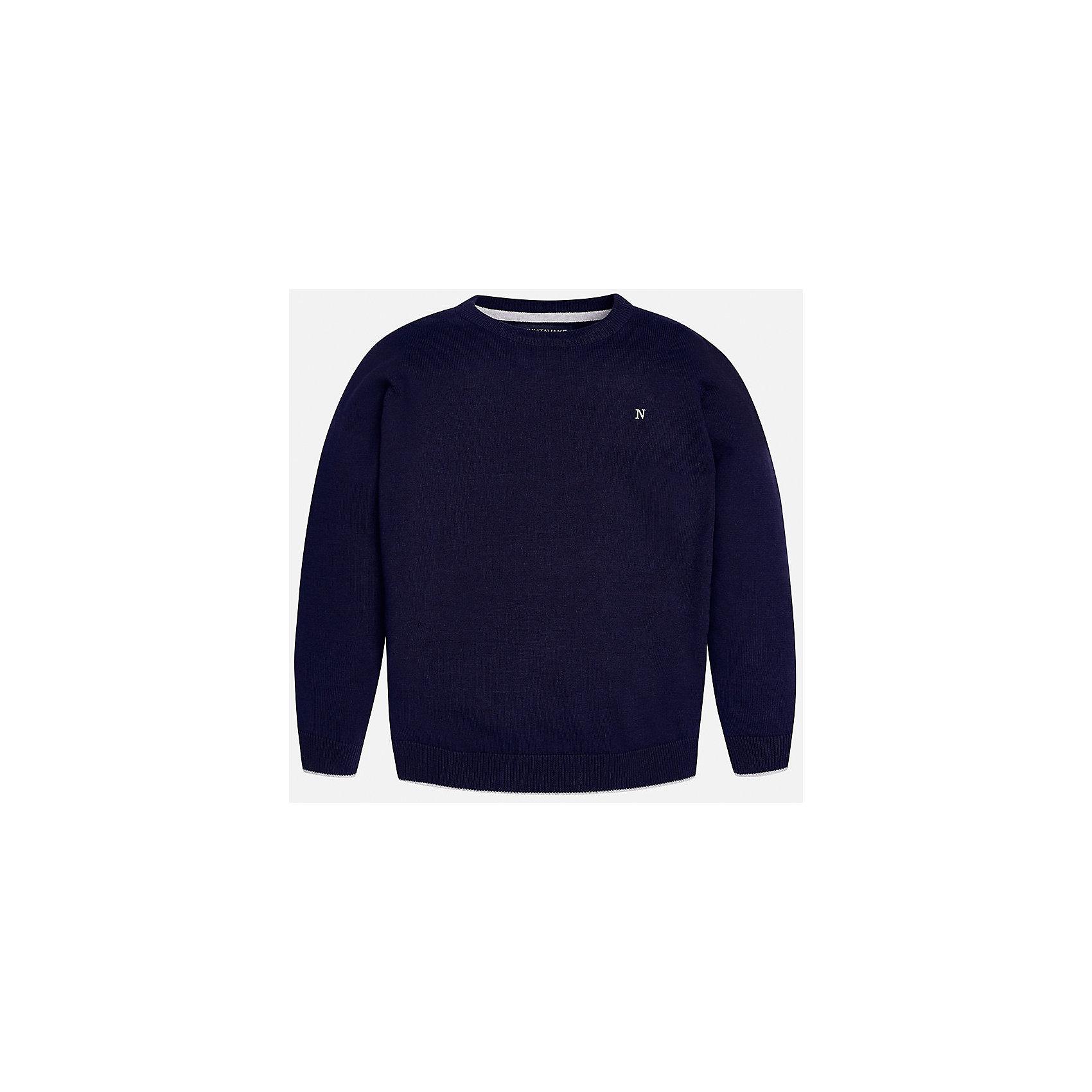 Свитер для мальчика MayoralКрасивый хлопковый свитер, с окантовкой внизу в виде трех серых полосок. Свитер хорошо садится и не тянется со временем.<br><br>Дополнительная информация:<br><br>- Прямой крой. <br>- Страна бренда: Испания.<br>- Состав: хлопок 100%<br>- Цвет: красный.<br>- Уход: бережная стирка при 30 градусах.<br><br>Купить свитер для мальчика Mayoral можно в нашем магазине.<br><br>Ширина мм: 190<br>Глубина мм: 74<br>Высота мм: 229<br>Вес г: 236<br>Цвет: коричневый<br>Возраст от месяцев: 108<br>Возраст до месяцев: 120<br>Пол: Мужской<br>Возраст: Детский<br>Размер: 134/140,158/164,128/134,146/152,152/158,164/170<br>SKU: 4821711