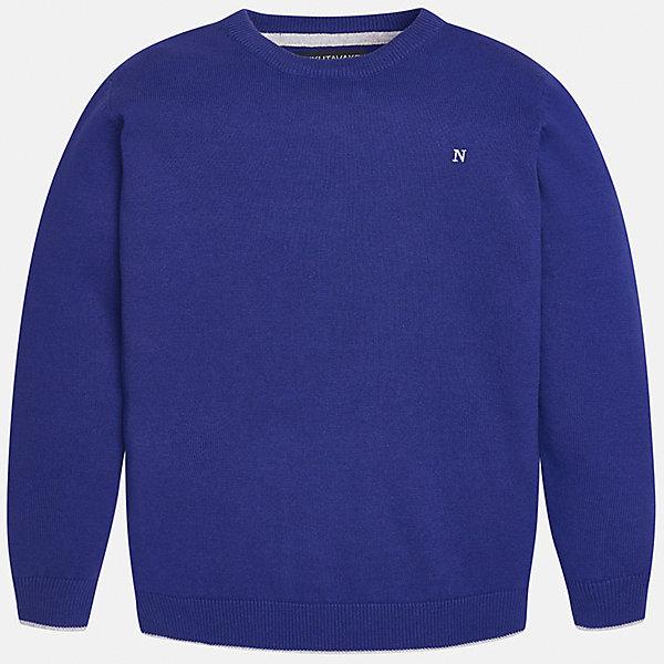 Свитер для мальчика MayoralСвитера и кардиганы<br>Красивый хлопковый свитер, с окантовкой внизу в виде трех серых полосок. Свитер хорошо садится и не тянется со временем.<br><br>Дополнительная информация:<br><br>- Прямой крой. <br>- Страна бренда: Испания.<br>- Состав: хлопок 100%<br>- Цвет: синий.<br>- Уход: бережная стирка при 30 градусах.<br><br>Купить свитер для мальчика Mayoral можно в нашем магазине.<br>Ширина мм: 190; Глубина мм: 74; Высота мм: 229; Вес г: 236; Цвет: синий; Возраст от месяцев: 108; Возраст до месяцев: 120; Пол: Мужской; Возраст: Детский; Размер: 140,170,128/134,152,158,164; SKU: 4821725;